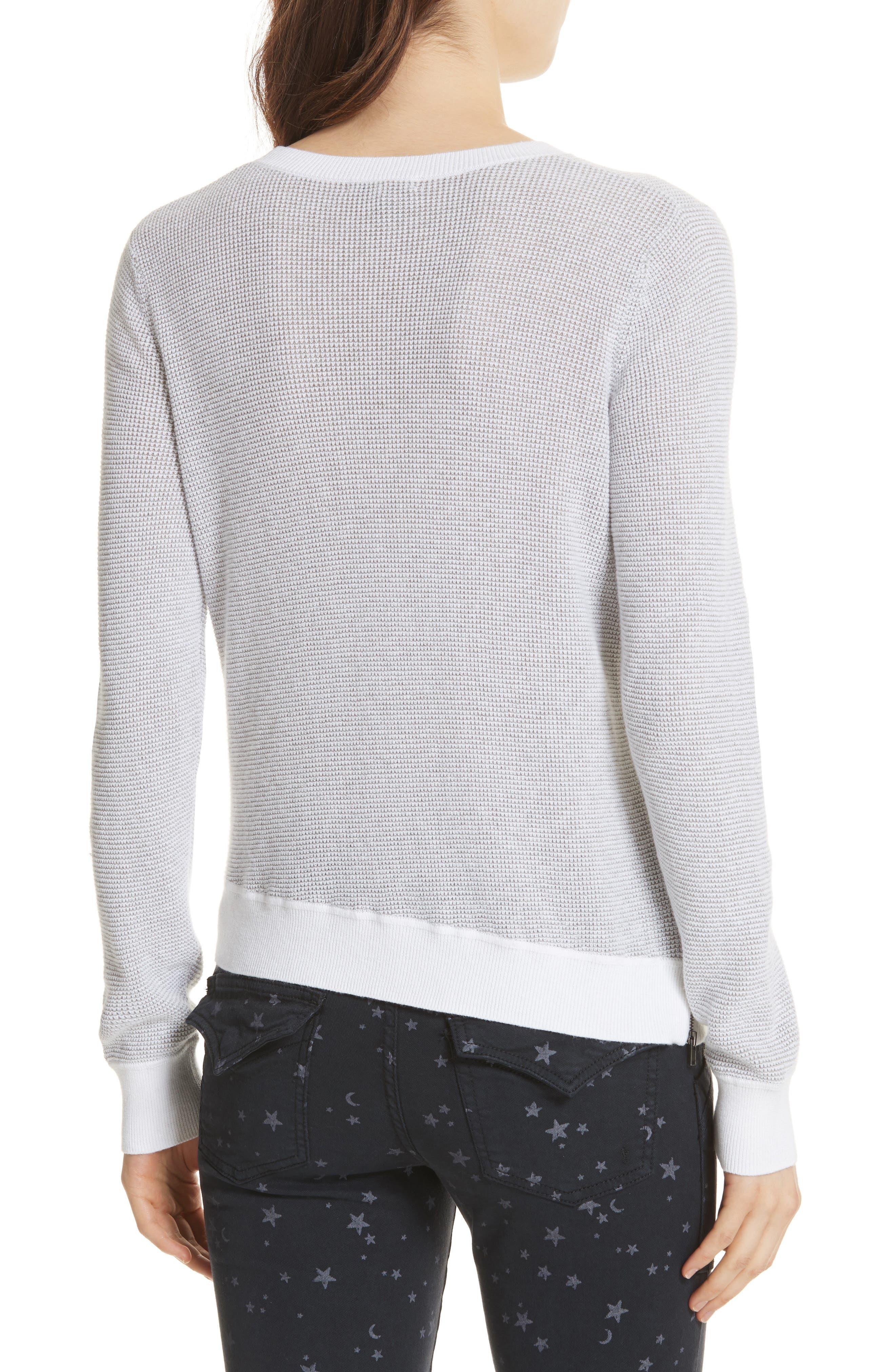 Laurana Cotton & Cashmere Sweater,                             Alternate thumbnail 2, color,                             Porcelain/ Heather Grey