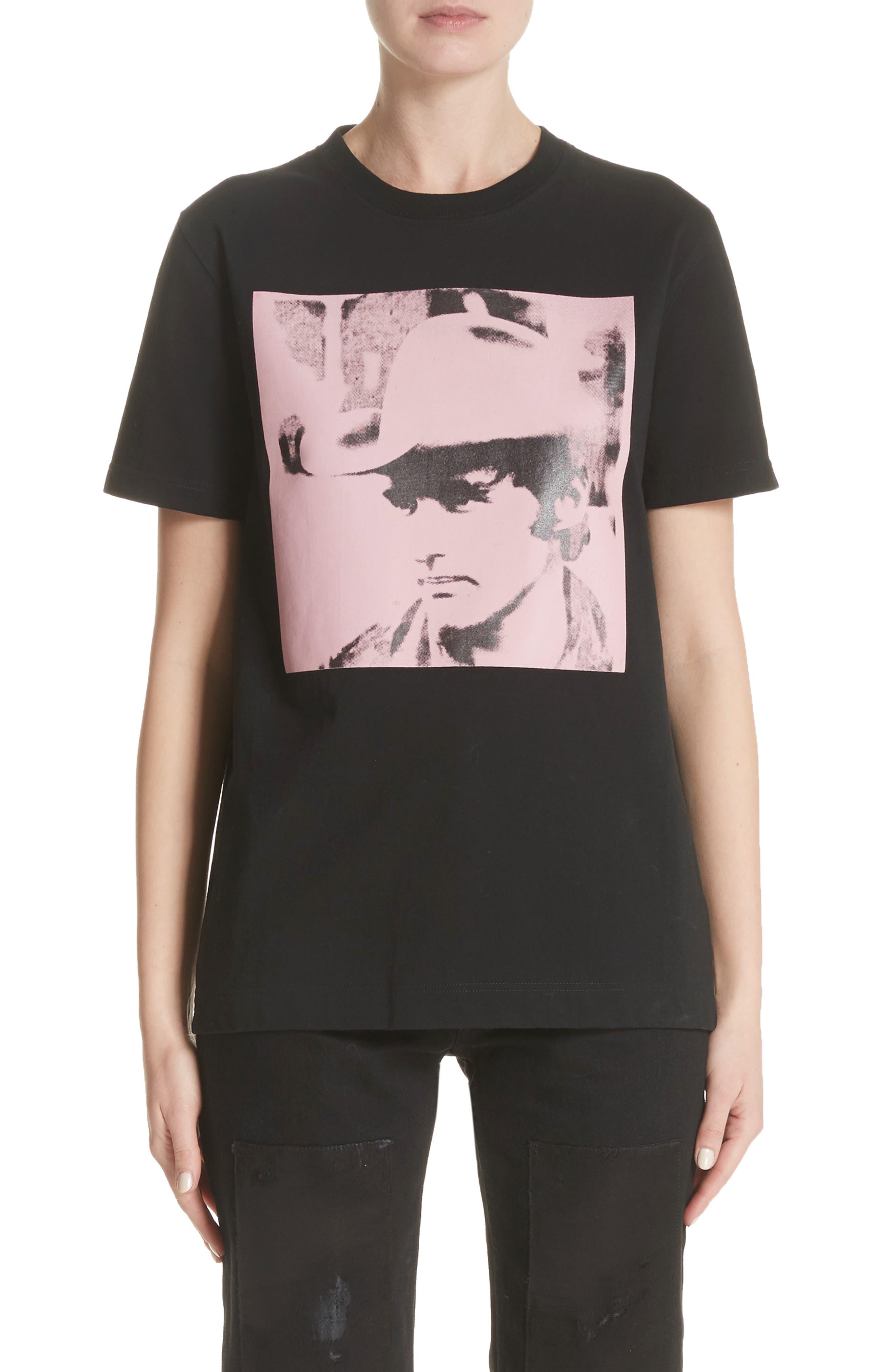 x Andy Warhol Foundation Dennis Hopper Tee,                         Main,                         color, Black/ Pink
