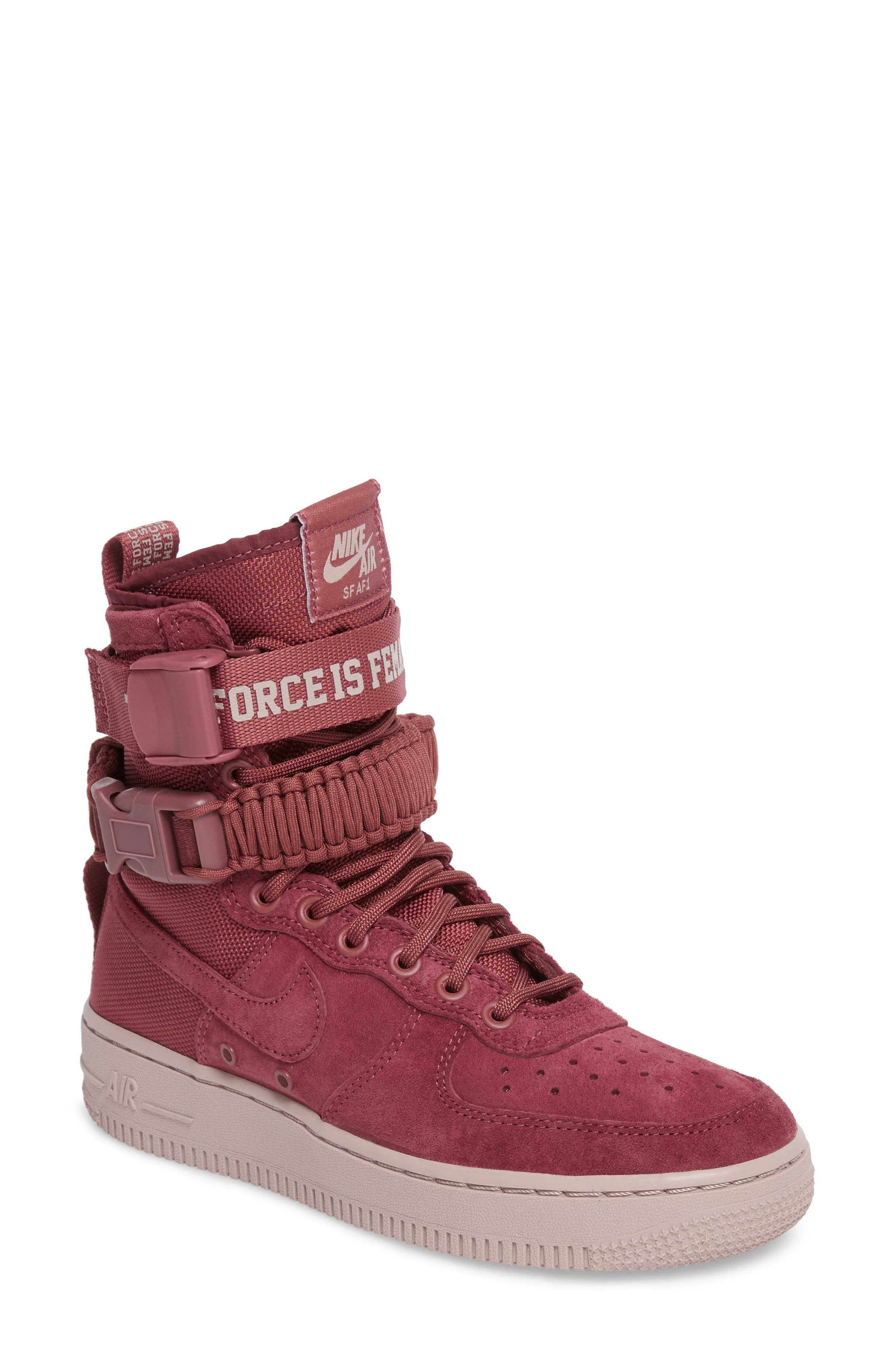 nike air force 1 high suede red belt