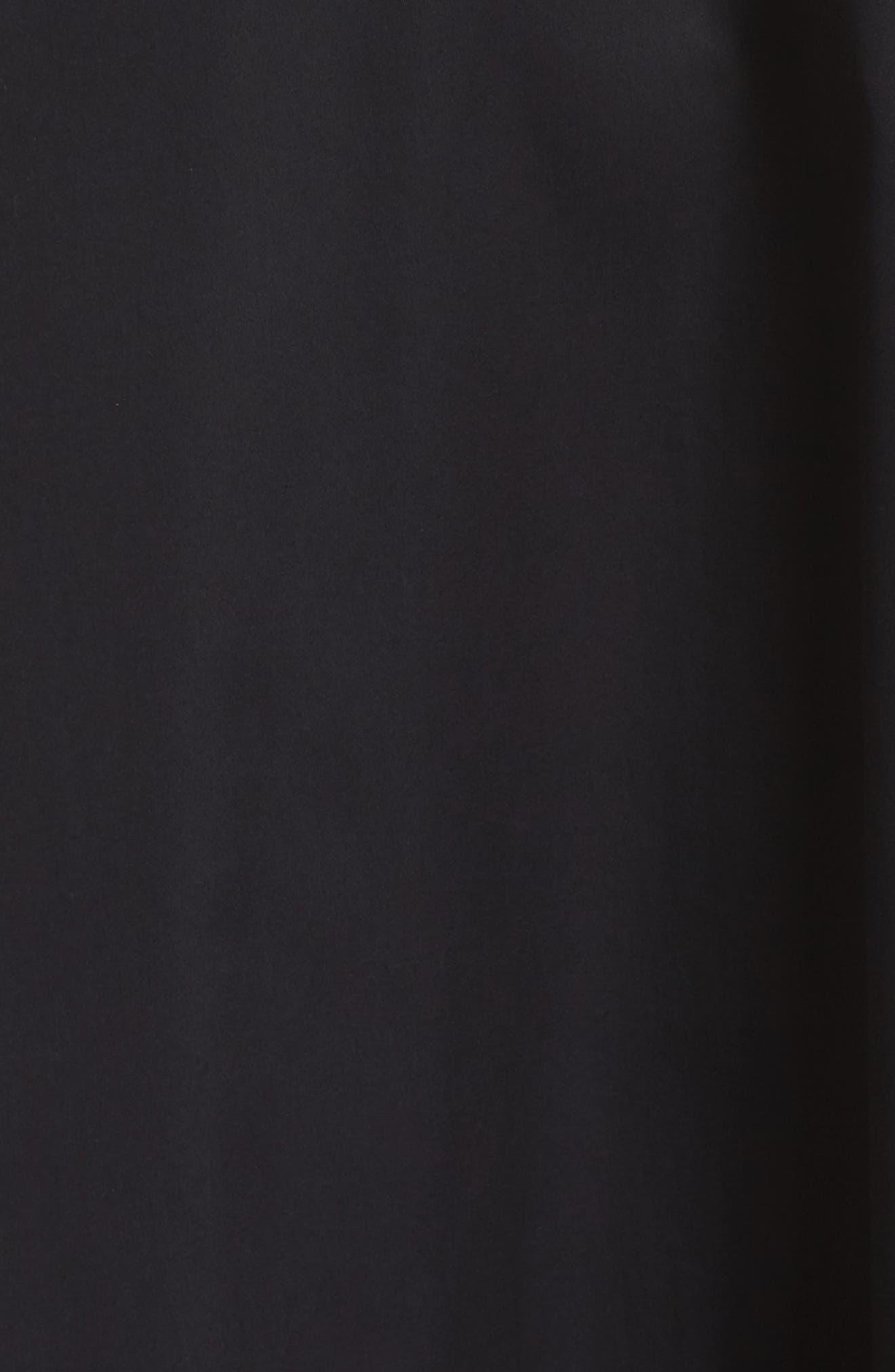 Pleat Hem Shift Dress,                             Alternate thumbnail 5, color,                             Black