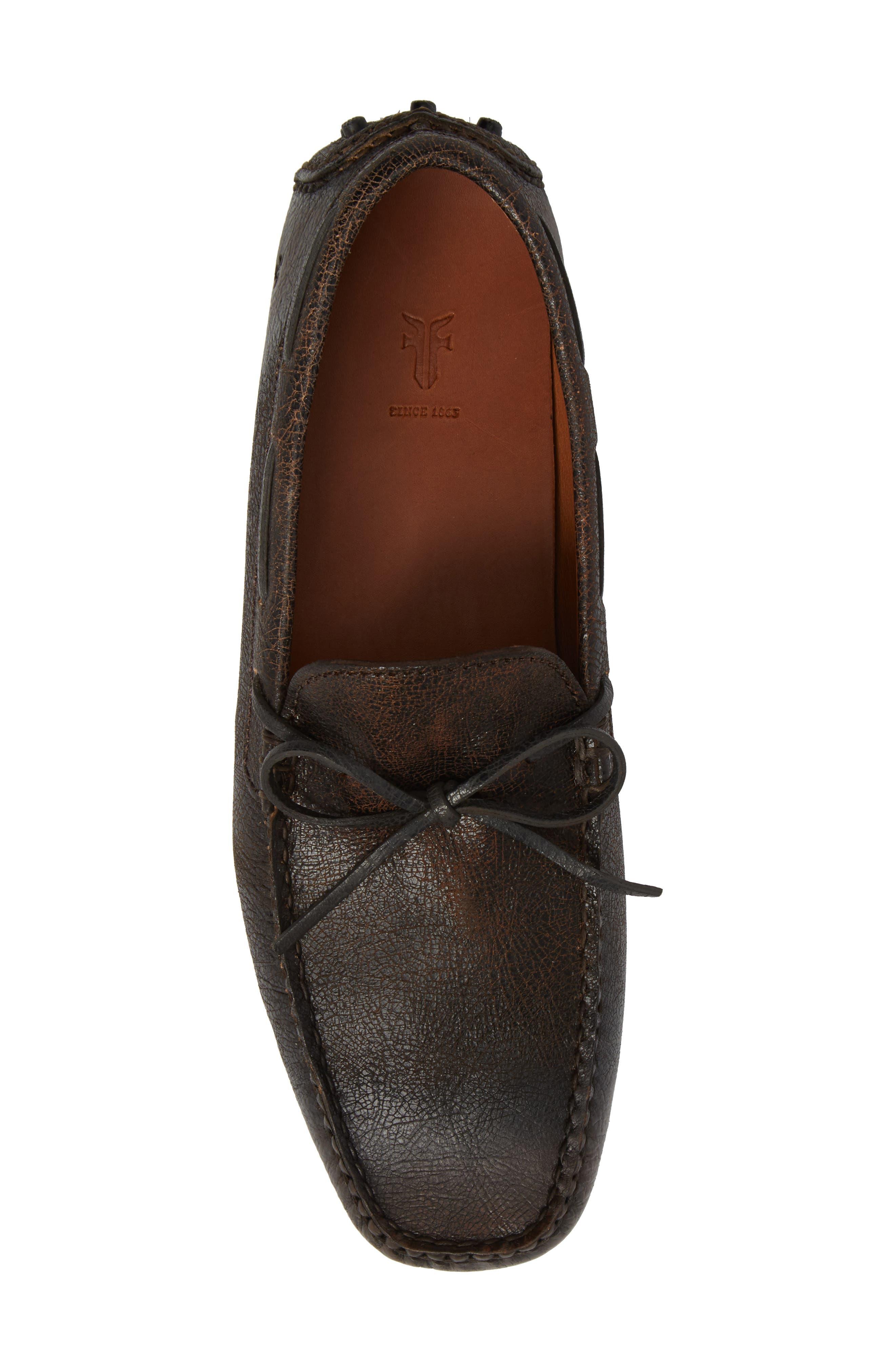 Allen Loafer,                             Alternate thumbnail 5, color,                             Dark Brown Leather