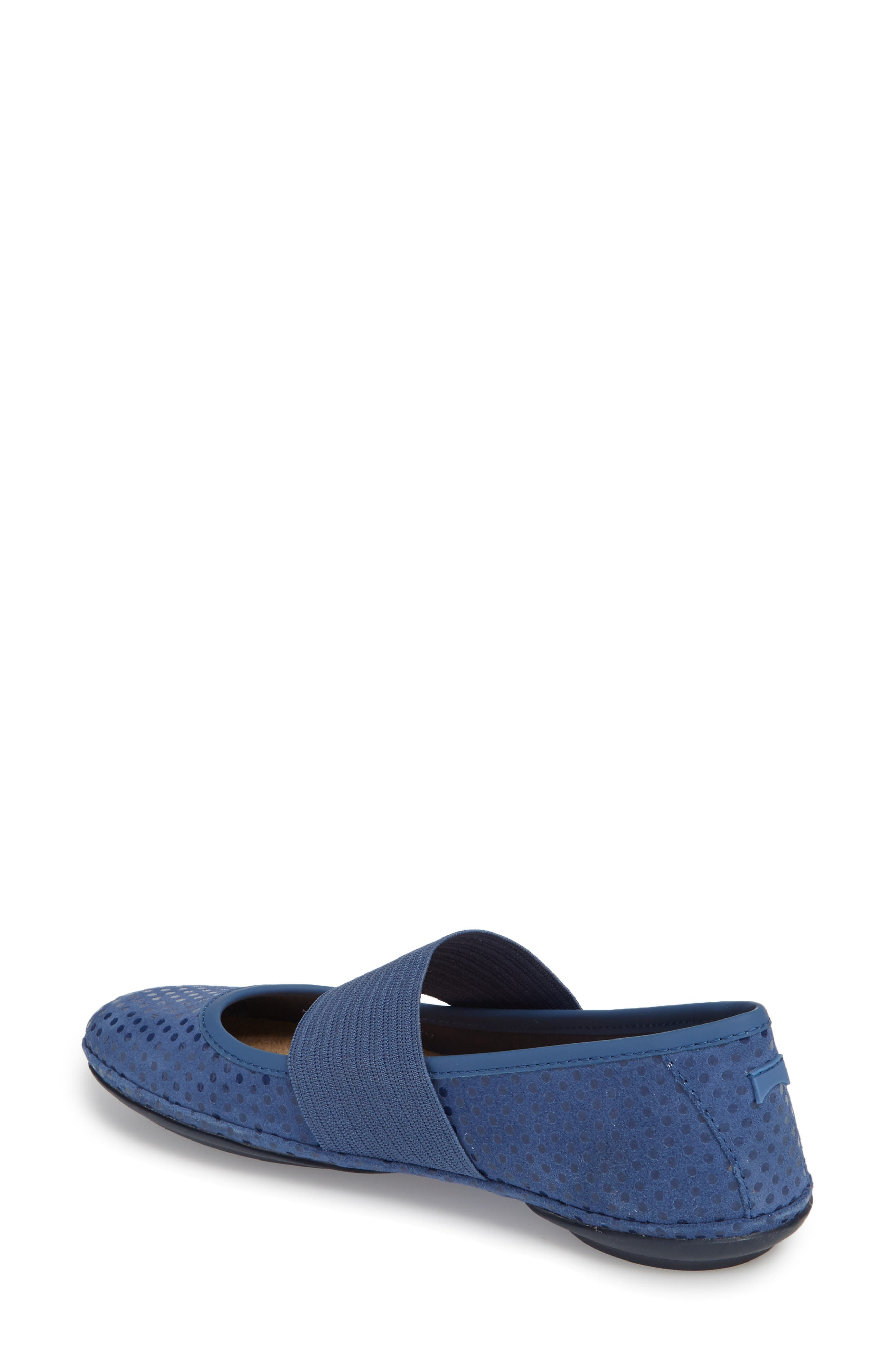 Right Nina Ballerina Flat,                             Alternate thumbnail 2, color,                             Medium Blue Nubuck
