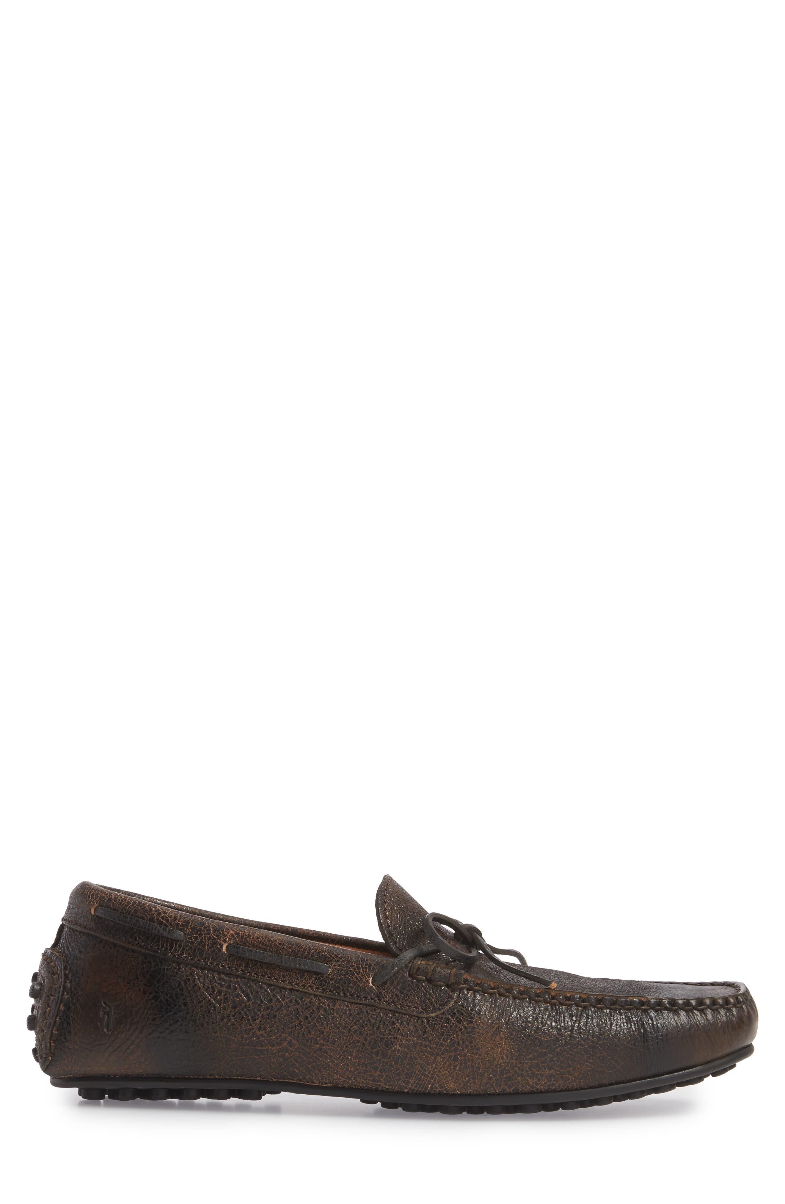 Allen Loafer,                             Alternate thumbnail 3, color,                             Dark Brown Leather