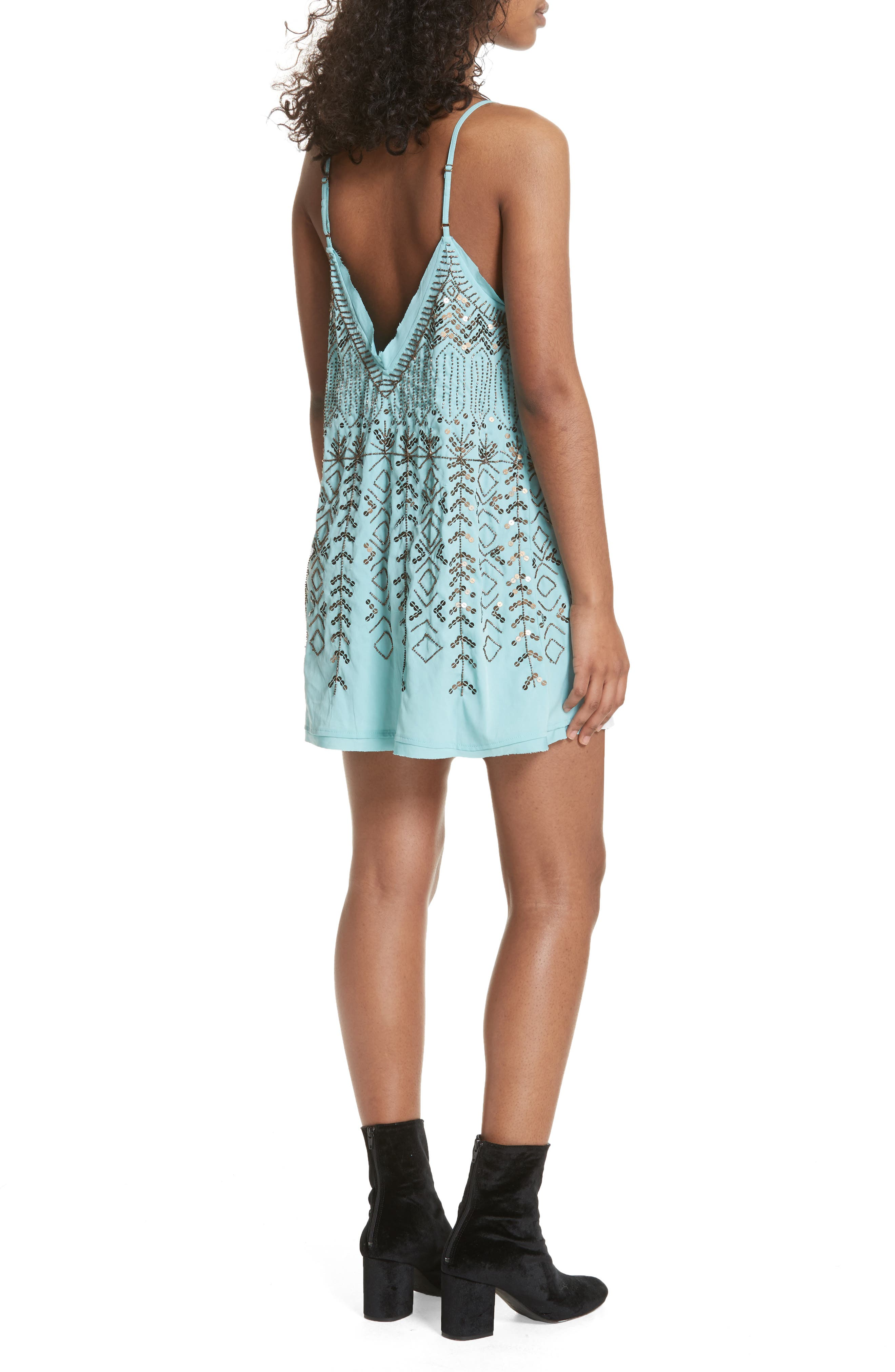 Arizona Nights Mini Slipdress,                             Alternate thumbnail 2, color,                             Mint