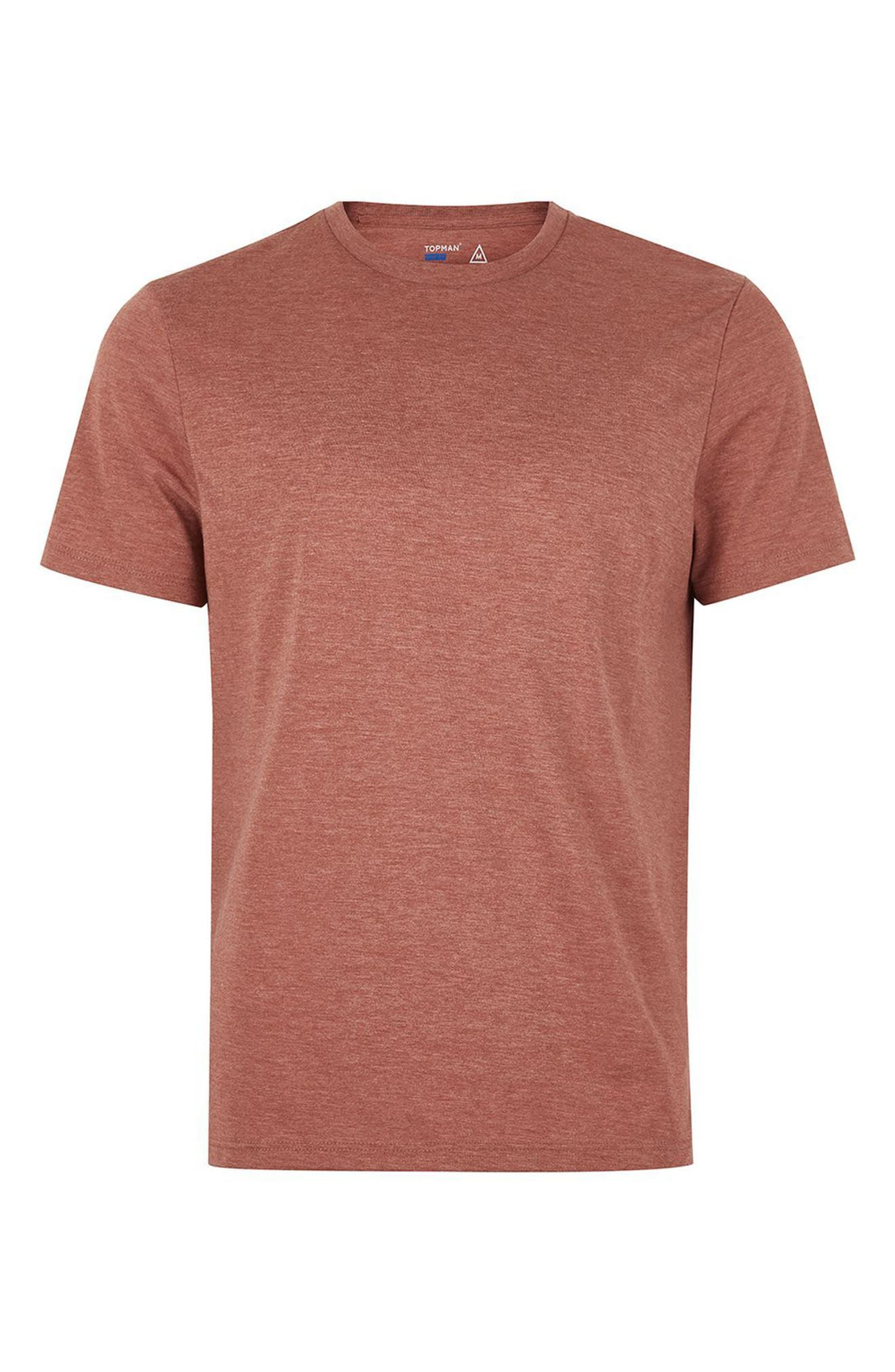 Slim Fit Crewneck T-Shirt,                             Alternate thumbnail 4, color,                             Rust Orange