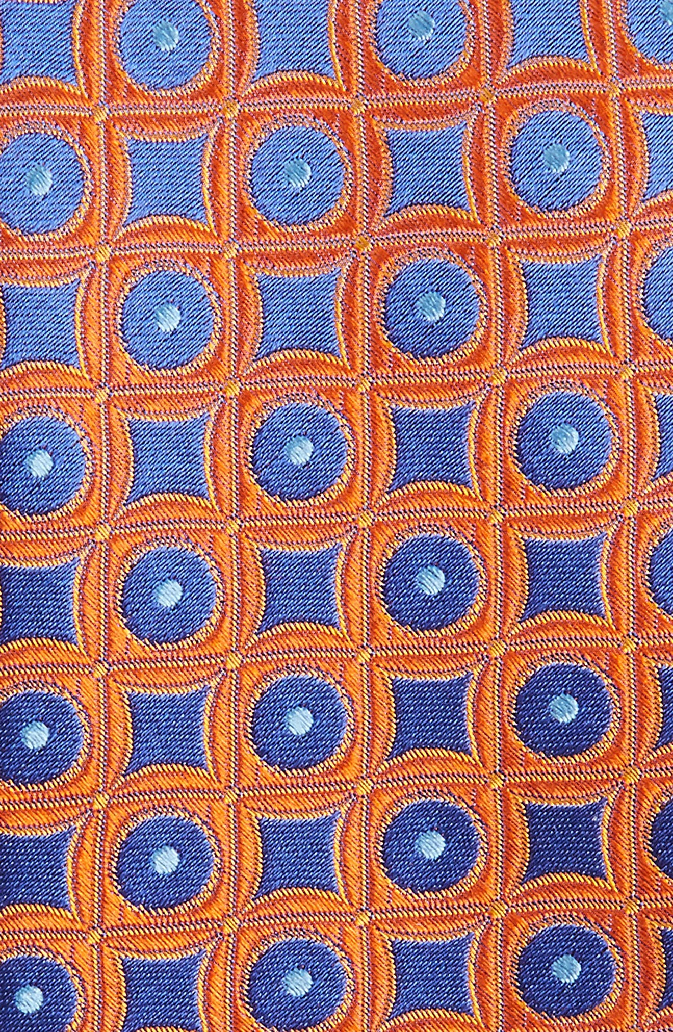 Criss Cross Geometric Silk Tie,                             Alternate thumbnail 2, color,                             Pumpkin