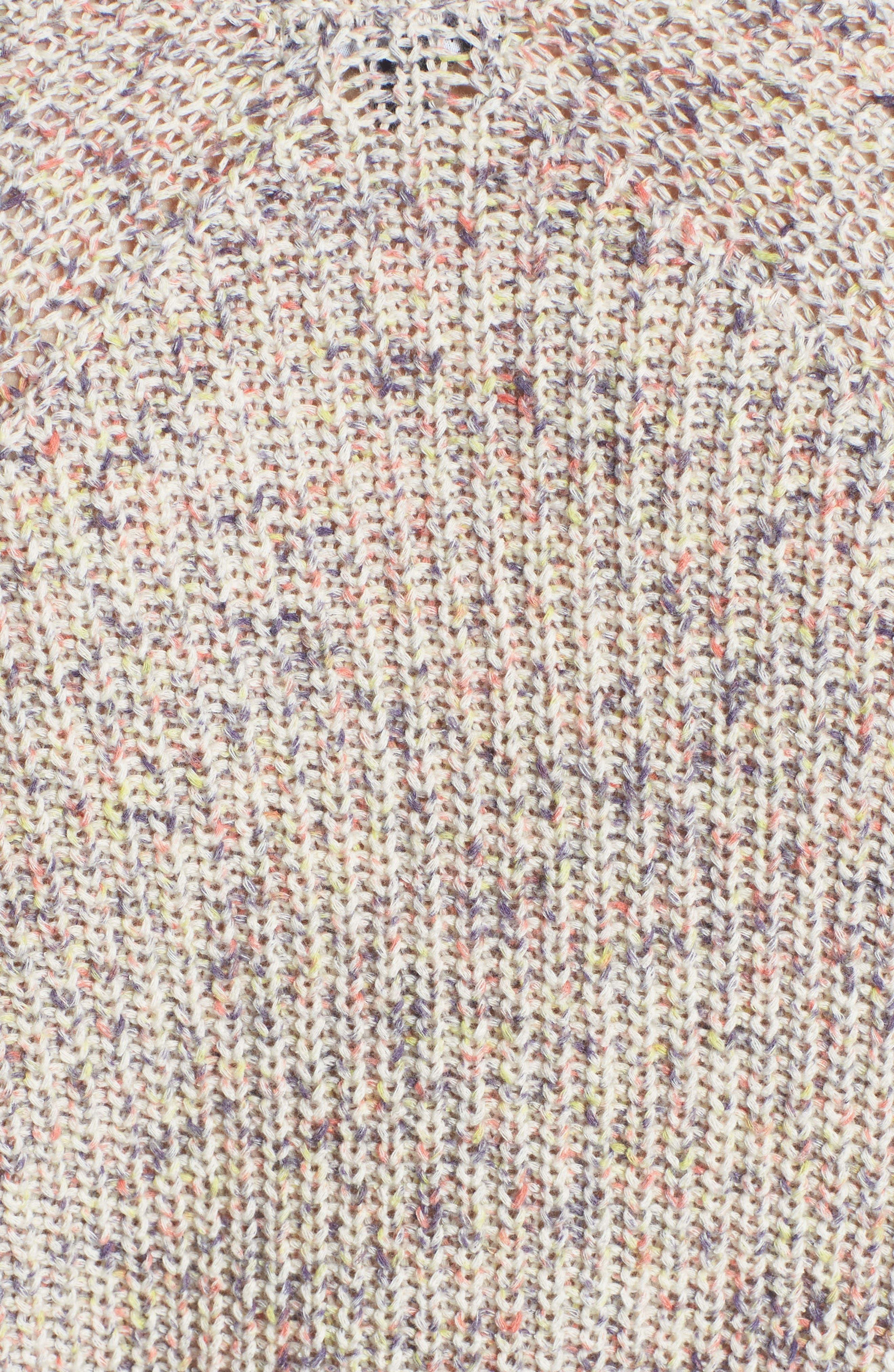 Plunging Crisscross Sweater,                             Alternate thumbnail 6, color,                             Glow Multi