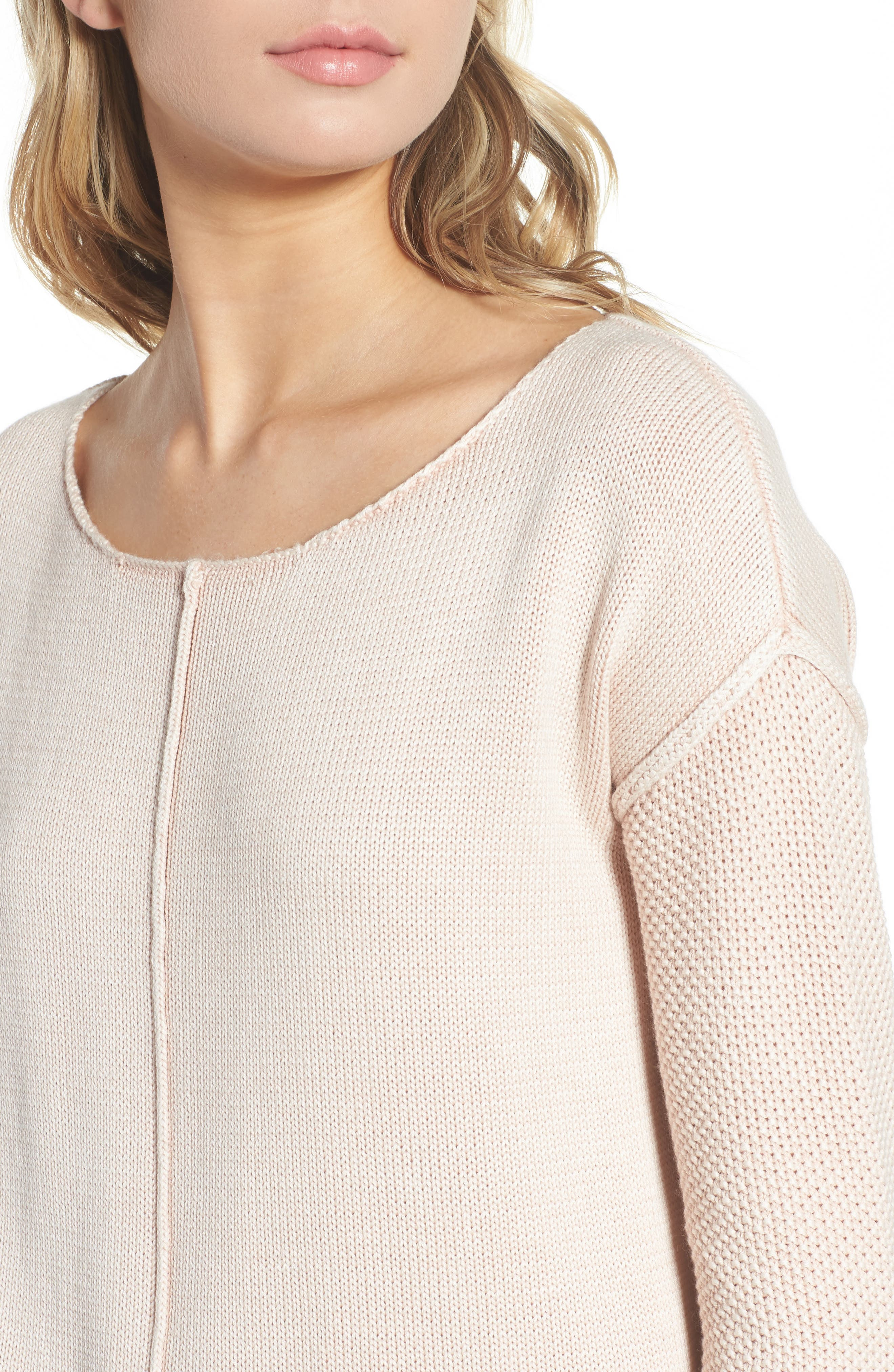 Erin Knit Sweater,                             Alternate thumbnail 4, color,                             Sand Washed Blush