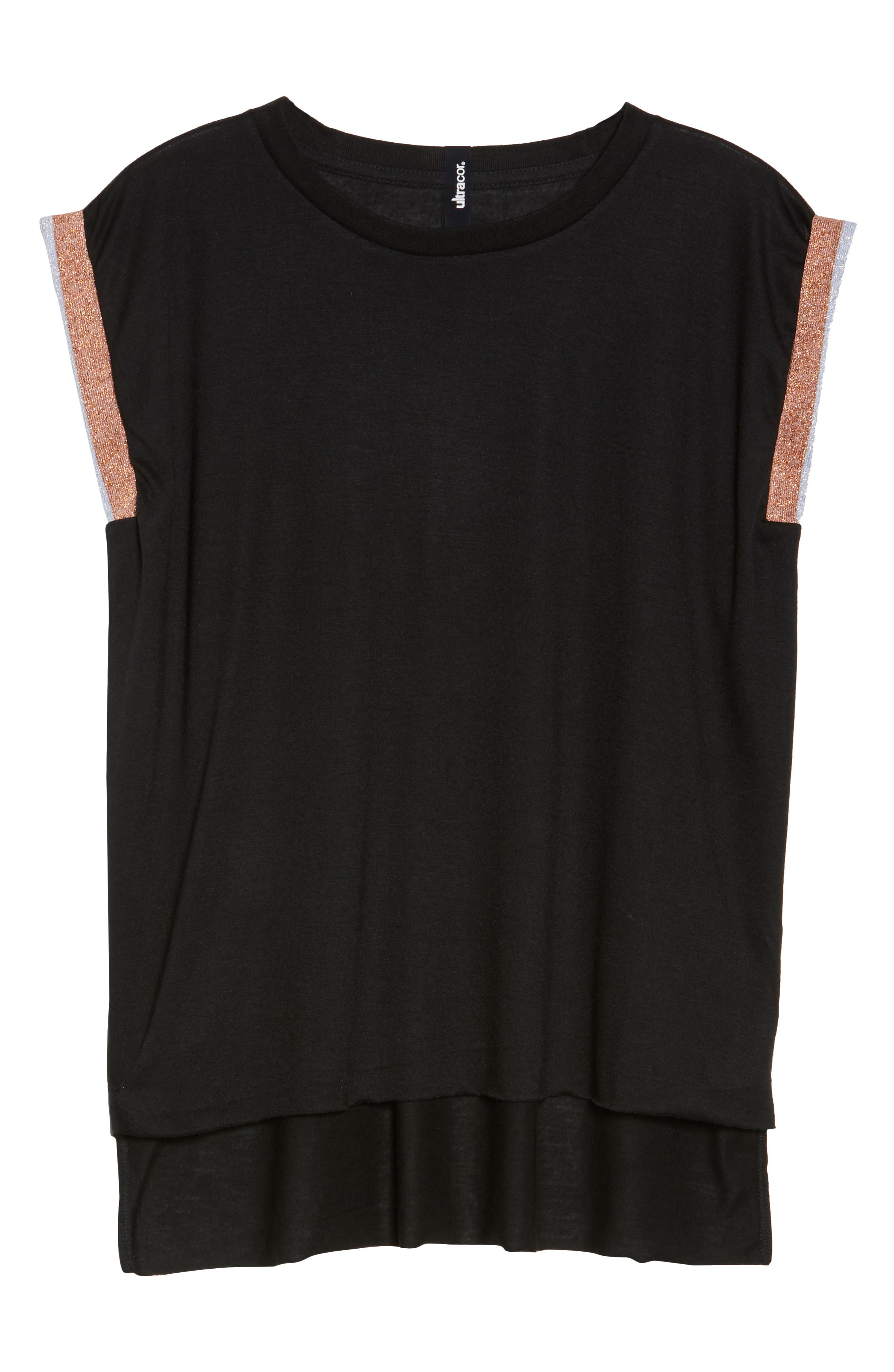 Collegiate Muscle Tee,                             Alternate thumbnail 7, color,                             Nero Rose Silver