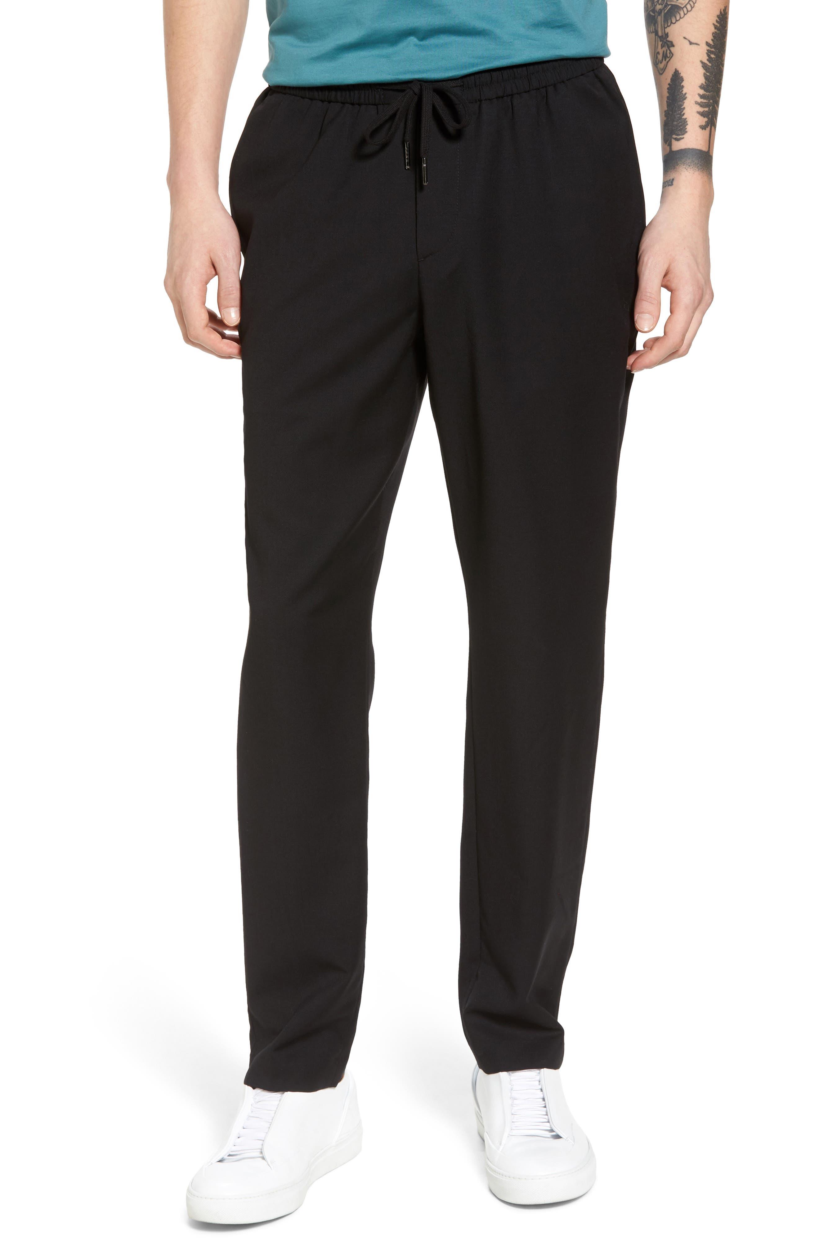 E-Waist Wool Jogger Pants,                         Main,                         color, Black