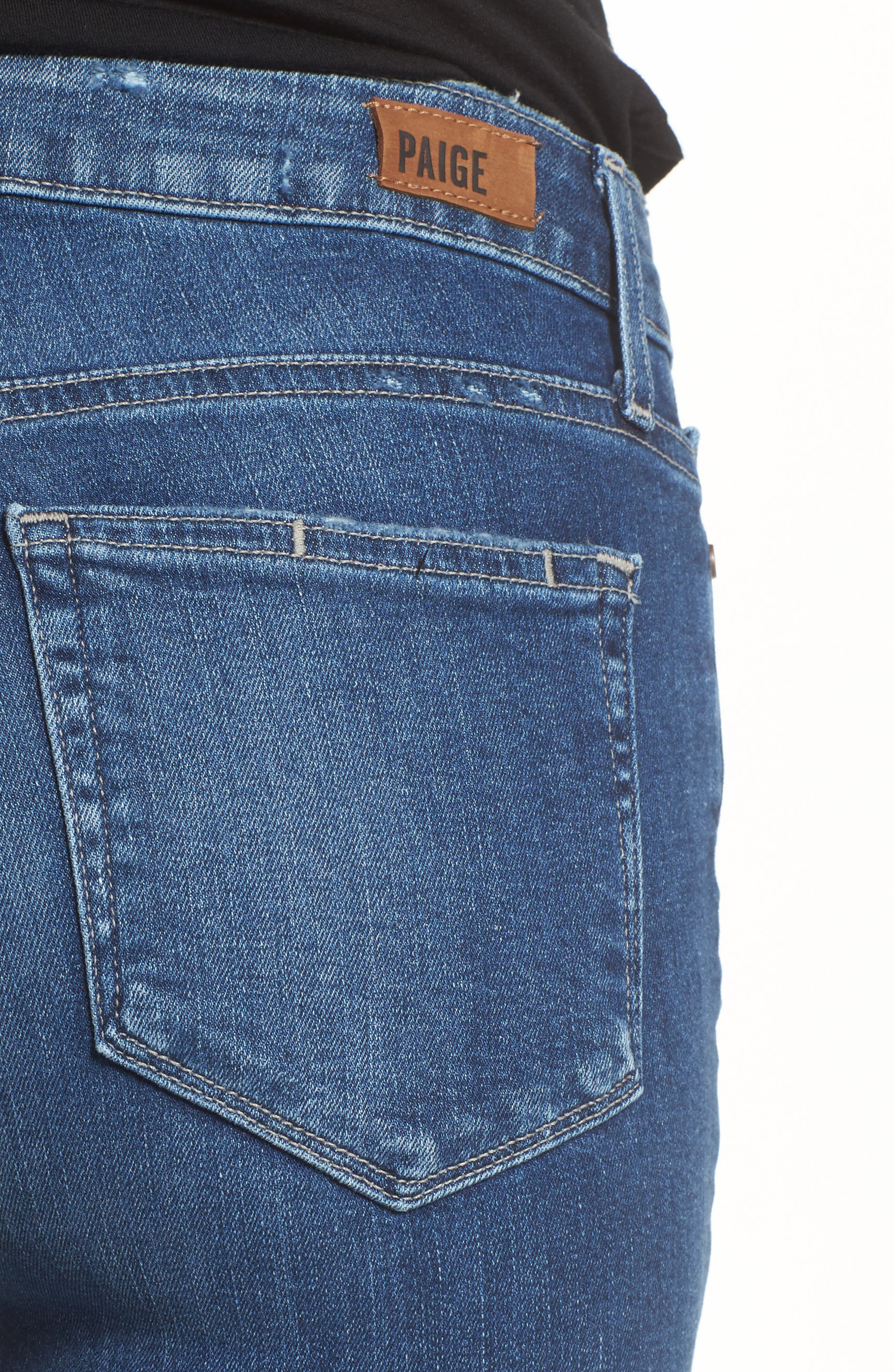 Transcend - Hoxton Ankle Straight Leg Jeans,                             Alternate thumbnail 4, color,                             Malibu