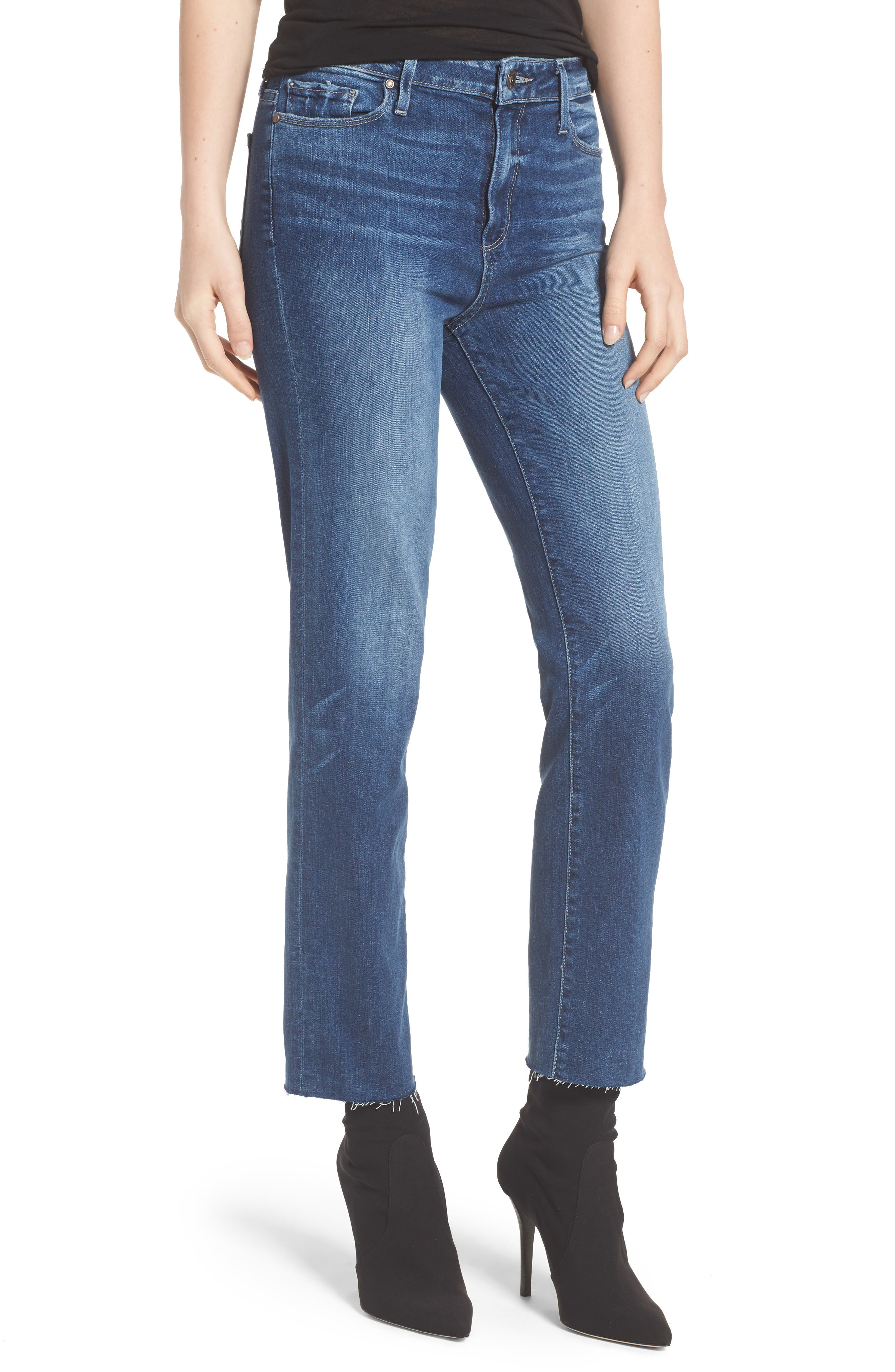 Transcend - Hoxton Ankle Straight Leg Jeans,                             Main thumbnail 1, color,                             Malibu
