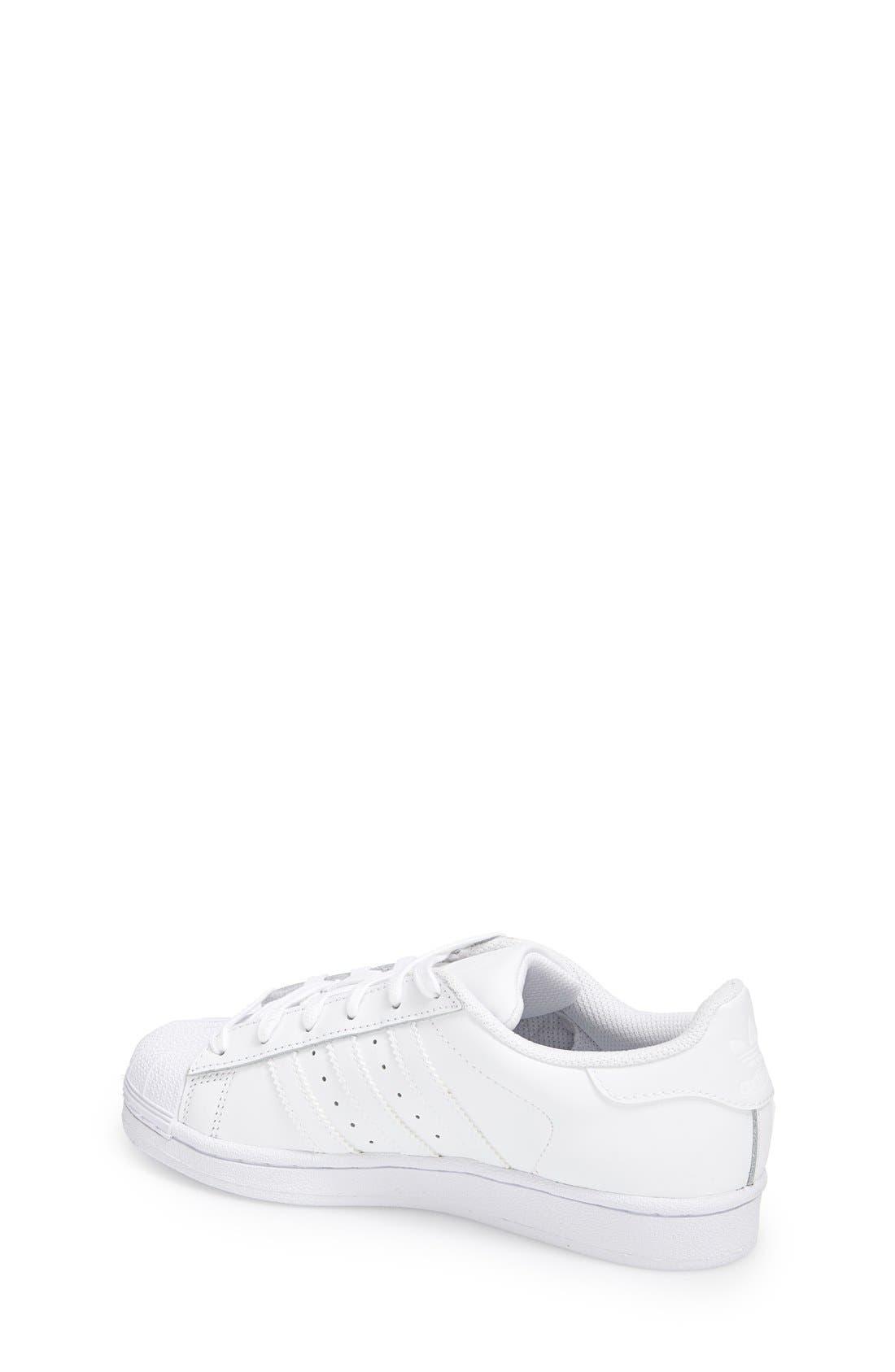 'Superstar 2' Sneaker,                             Alternate thumbnail 2, color,                             White/ White