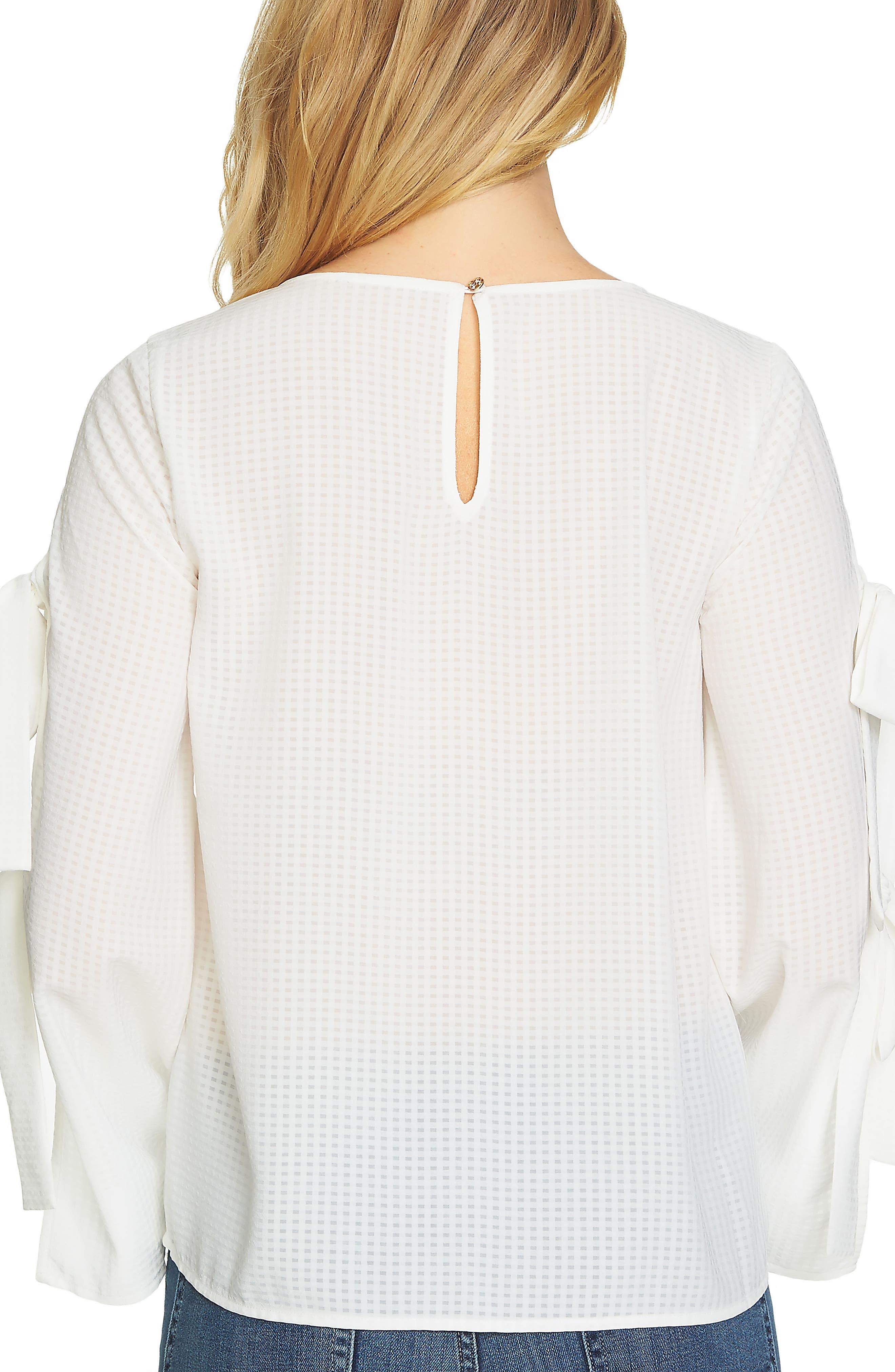 Split Bell Sleeve Blouse,                             Alternate thumbnail 2, color,                             Antique White