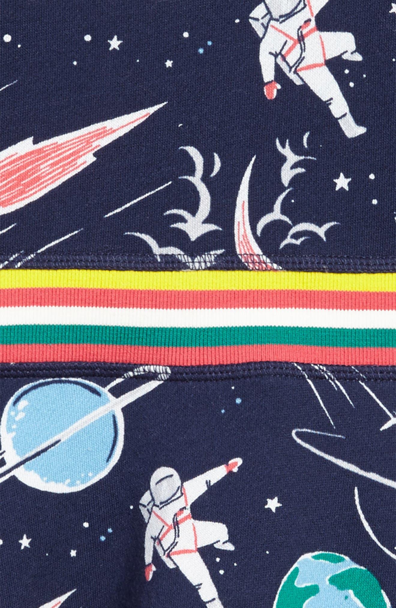 Space Sweatshirt Dress,                             Alternate thumbnail 3, color,                             School Navy Space