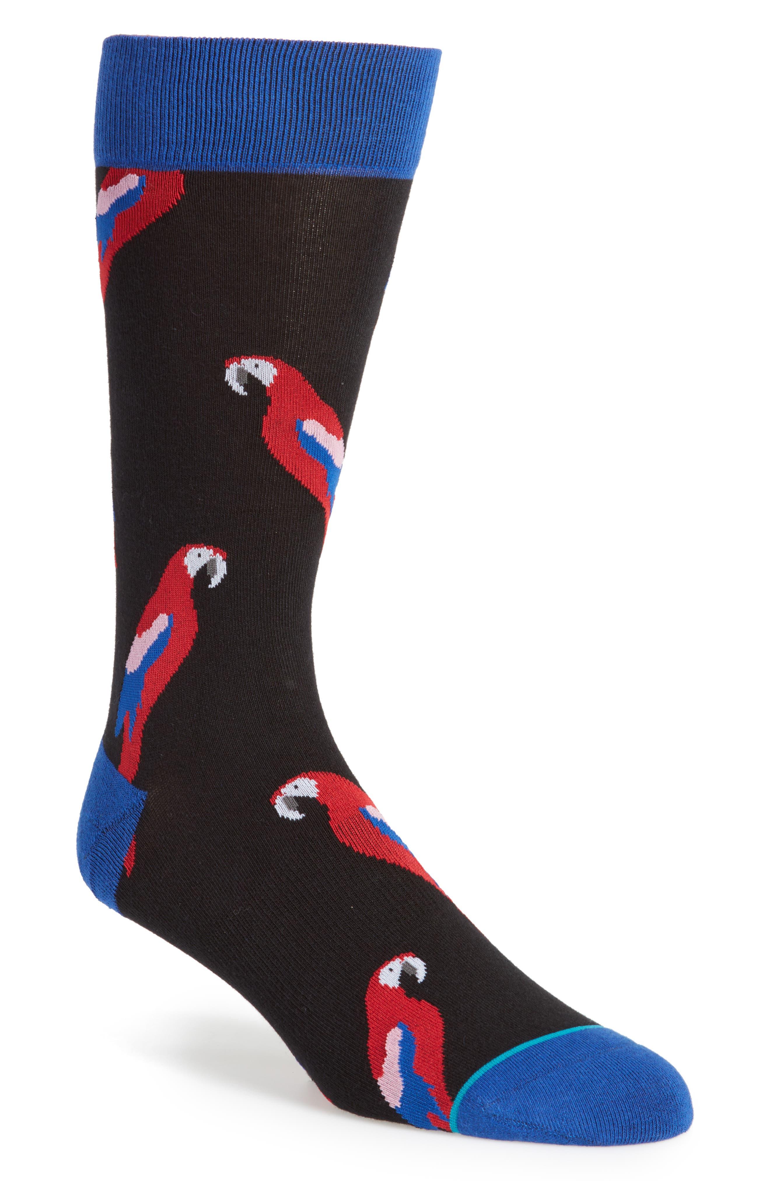 Polly 2 Crew Socks,                         Main,                         color, Black