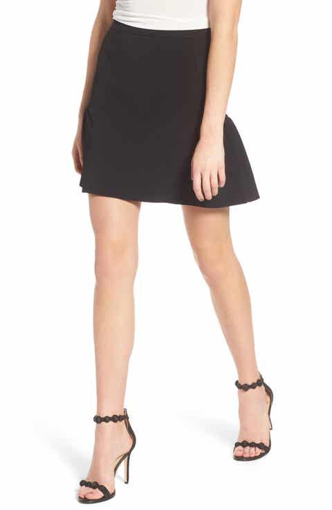 Chelsea28 Ruffle Knit Miniskirt