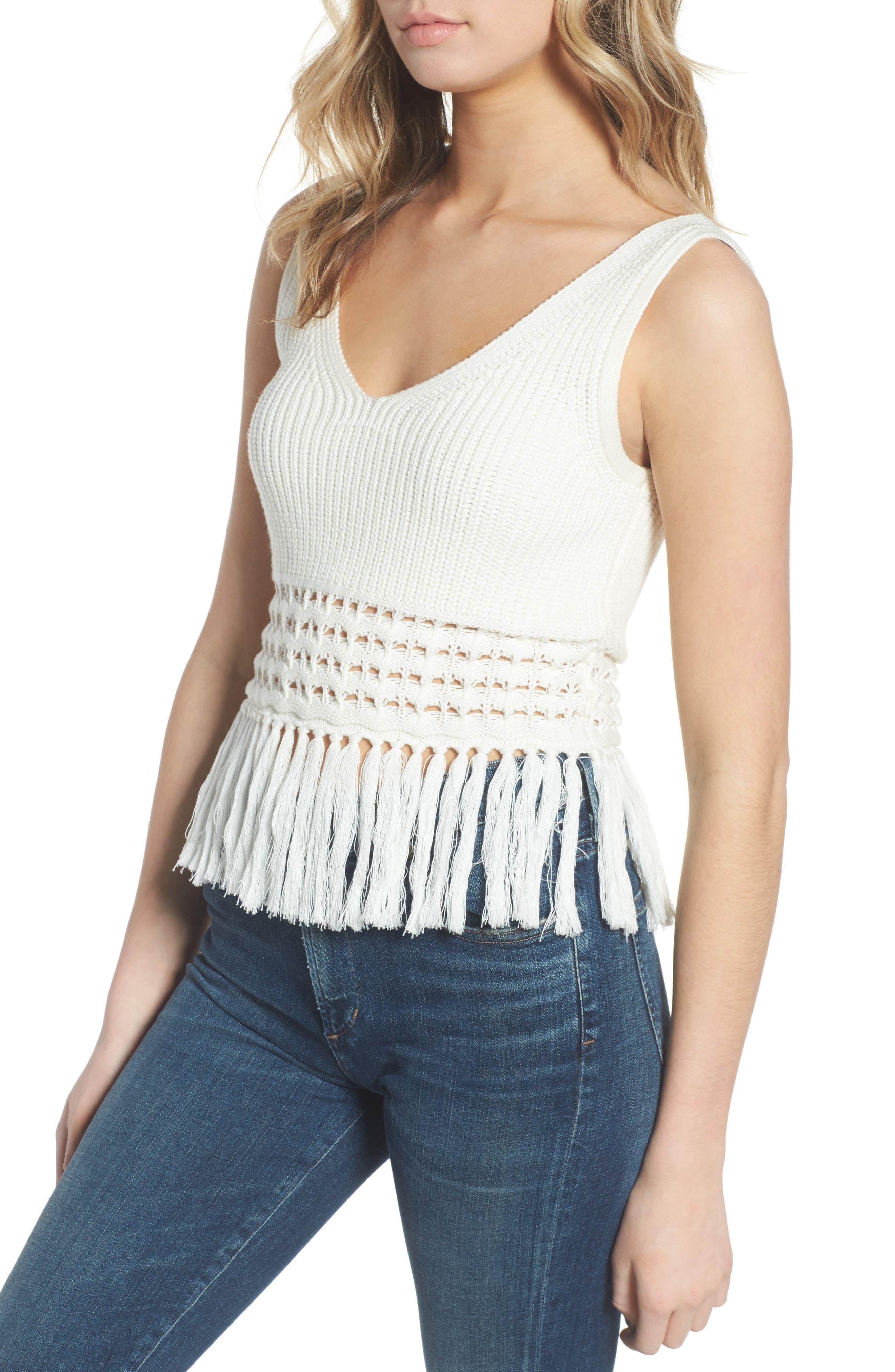 Rebecca Minkoff Eliza Fringe Sweater Tank