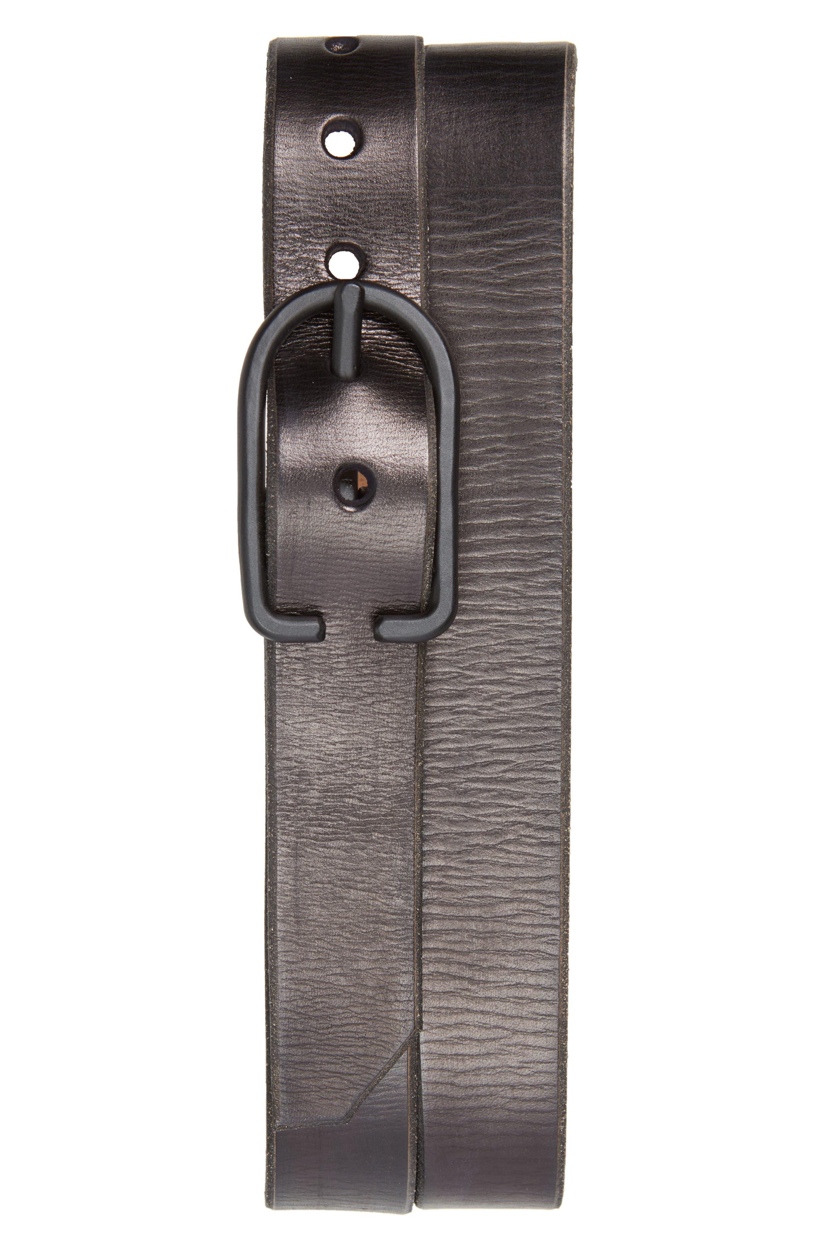 Cause & Effect Monochromatic Leather Belt,                         Main,                         color, Black