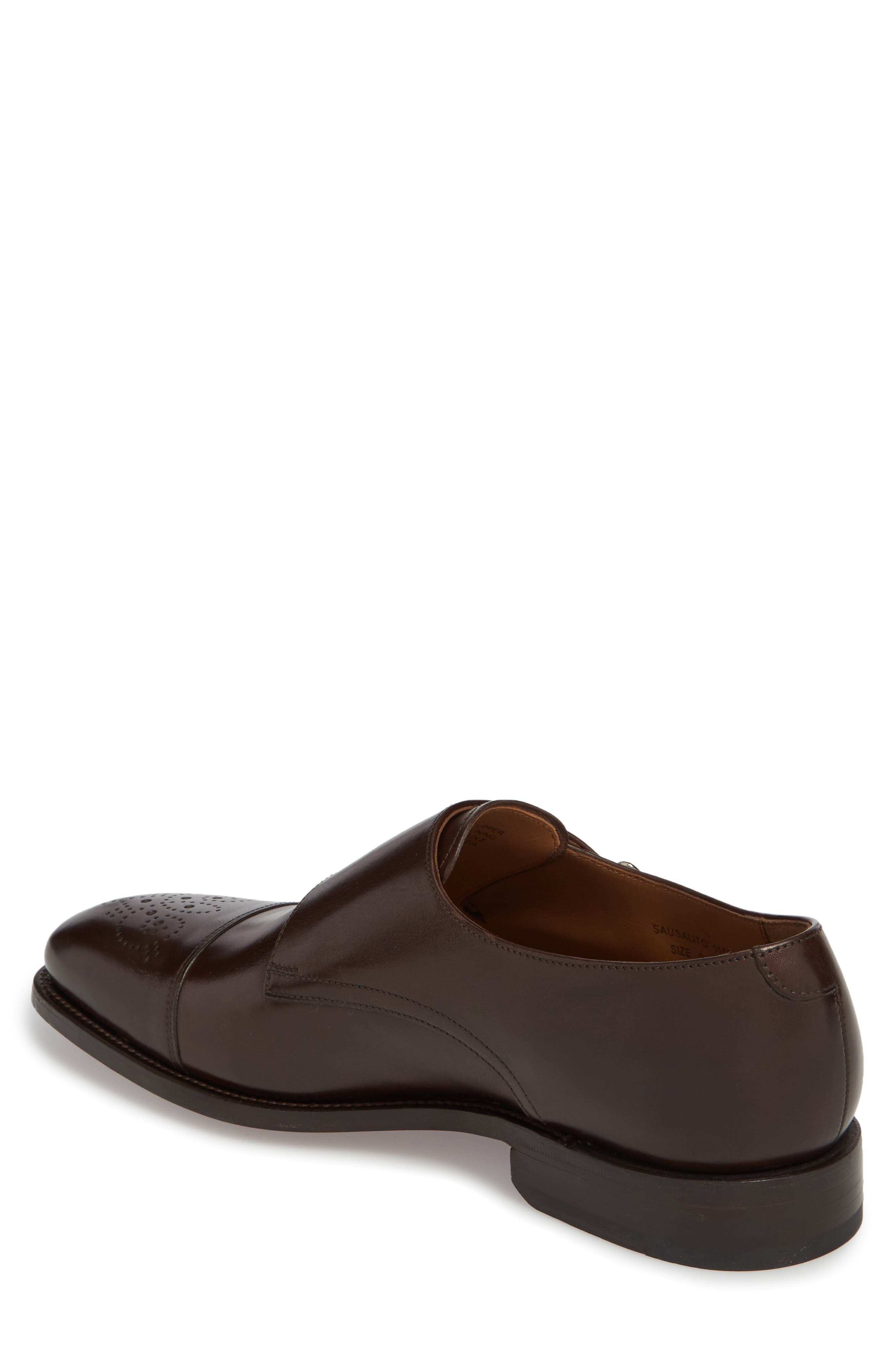 Sausalito Double Monk Strap Shoe,                             Alternate thumbnail 2, color,                             Coffee