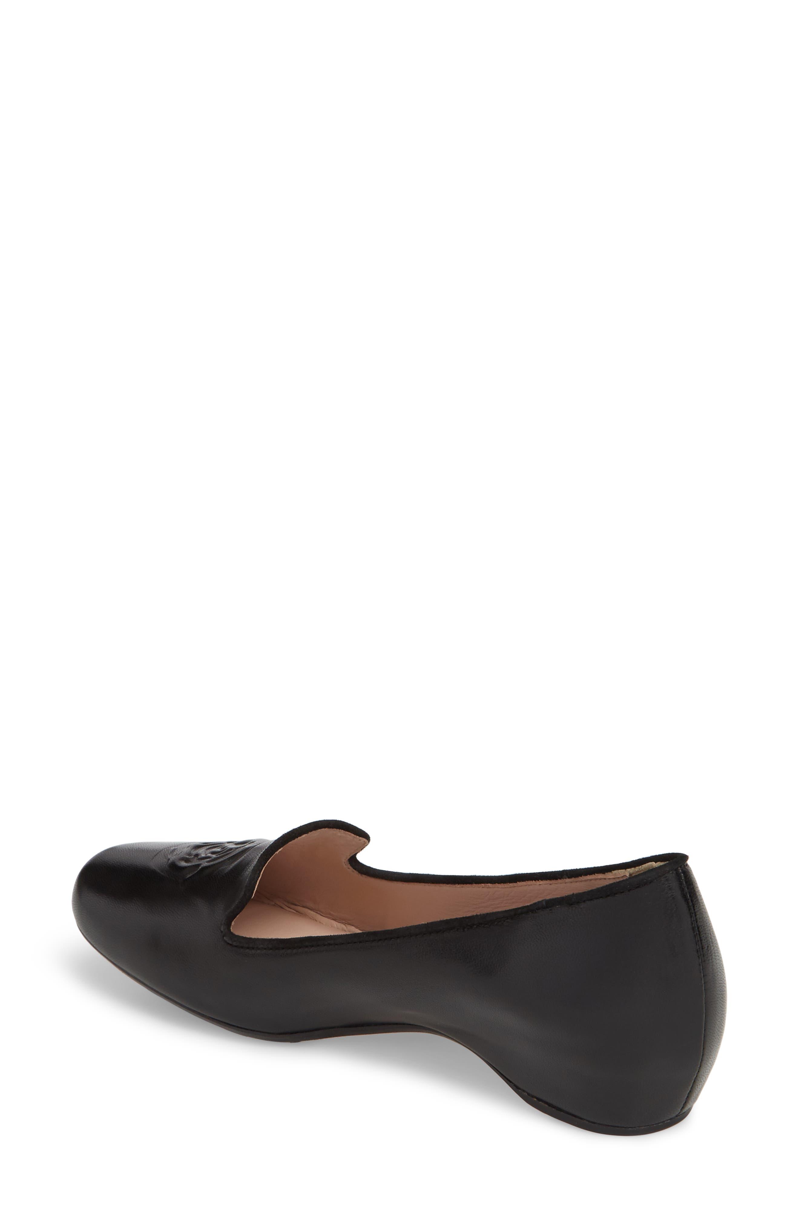 Taryn Rose Belissa Loafer,                             Alternate thumbnail 2, color,                             Black Leather