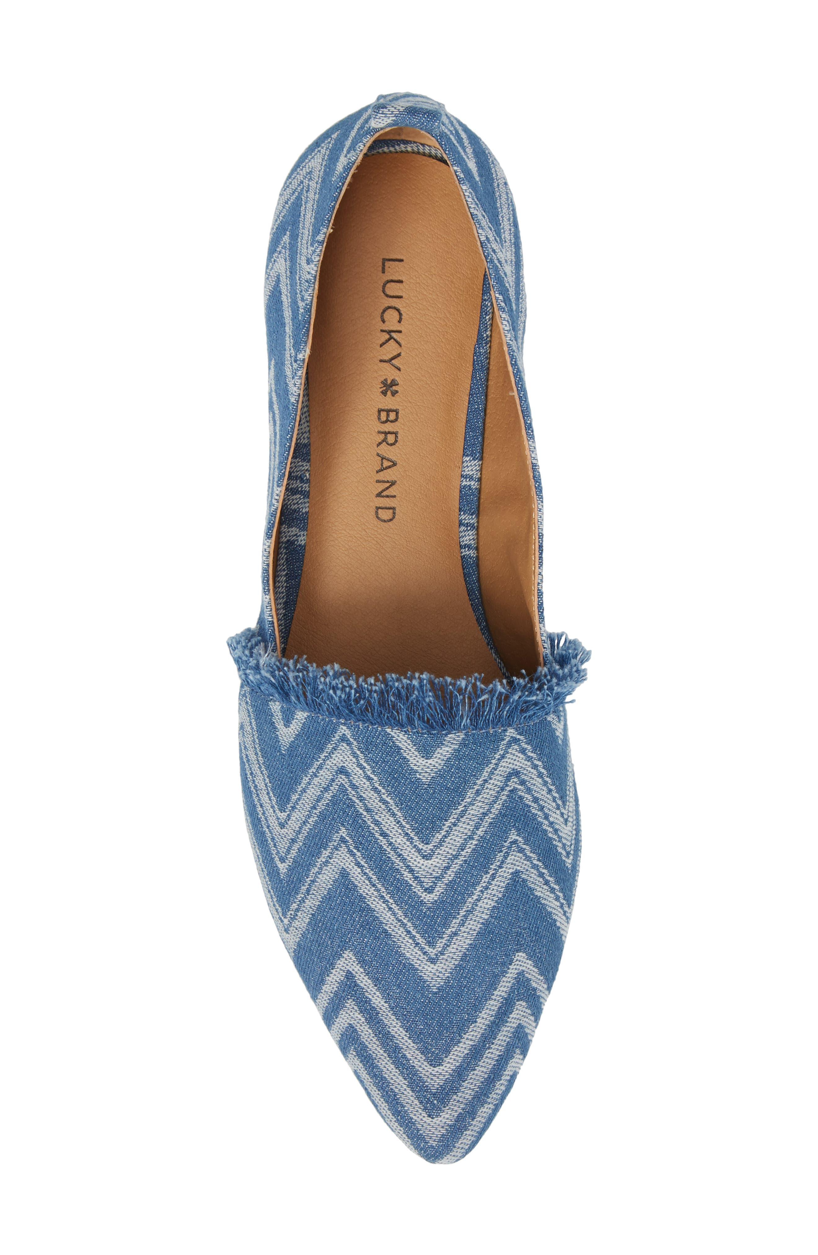 Alternate Image 5  - Lucky Brand Beechmer Pointy Toe Flat (Women)