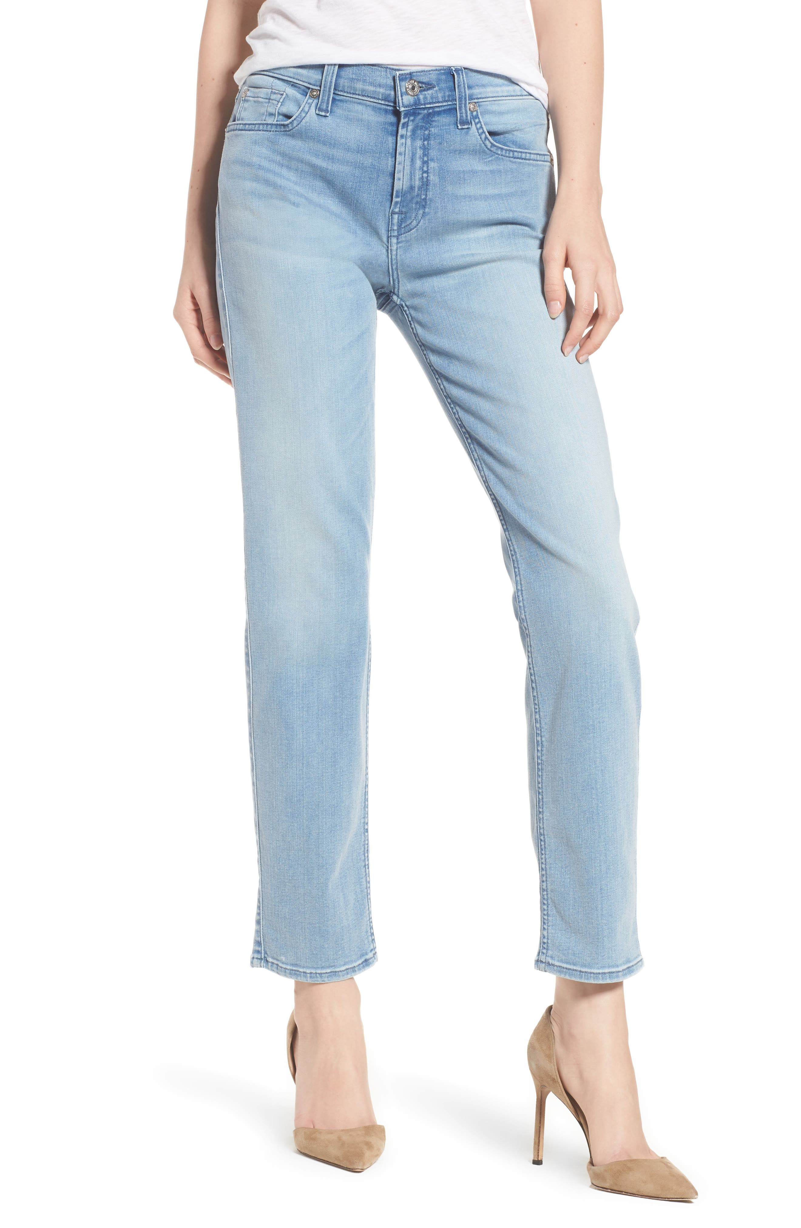 Main Image - 7 For All Mankind® Roxanne Ankle Skinny Jeans (Bair Mirage)