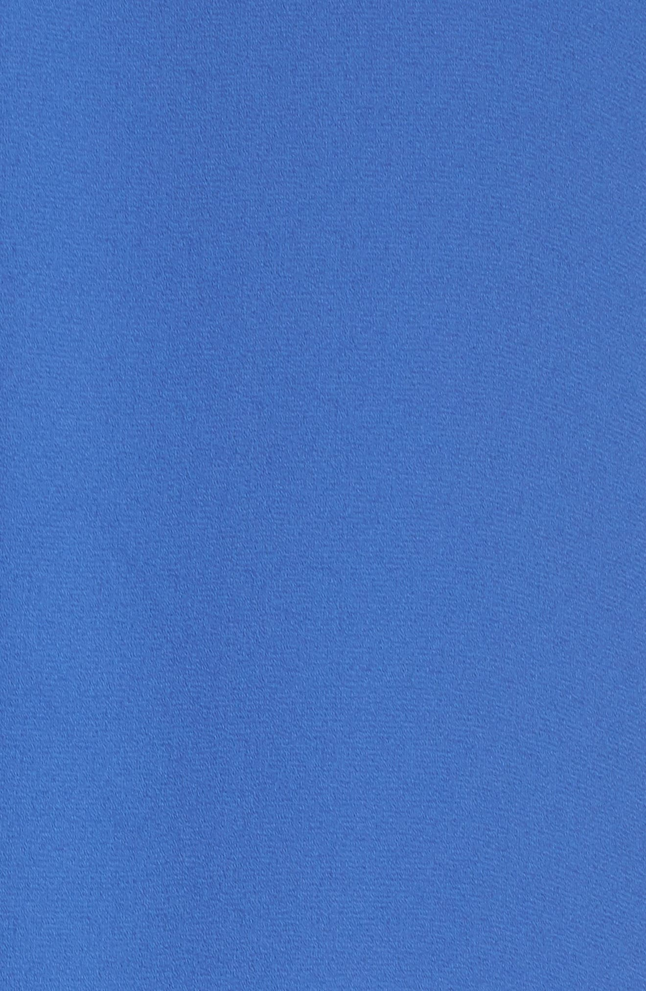Asymmetric Hem Shift Dress,                             Alternate thumbnail 5, color,                             Denim Blue