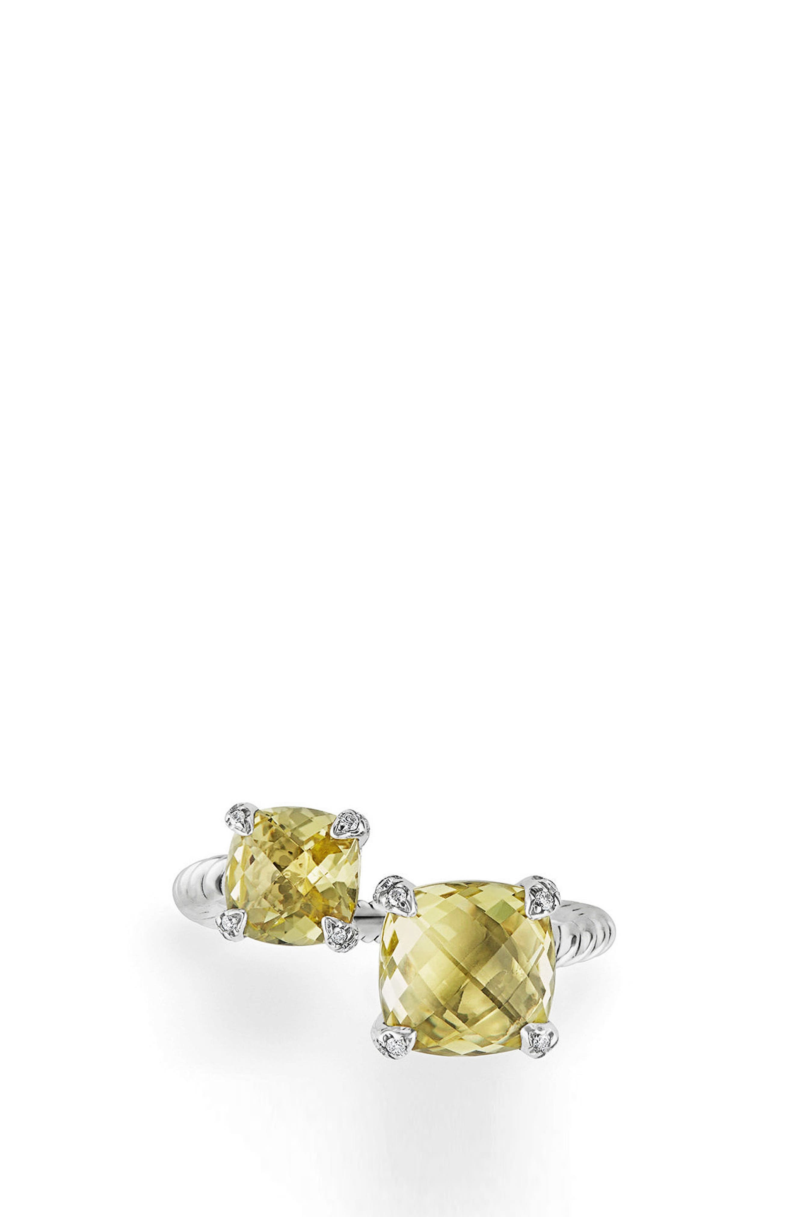 Châtelaine Bypass Ring with Diamonds,                             Alternate thumbnail 3, color,                             Lemon Citrine?