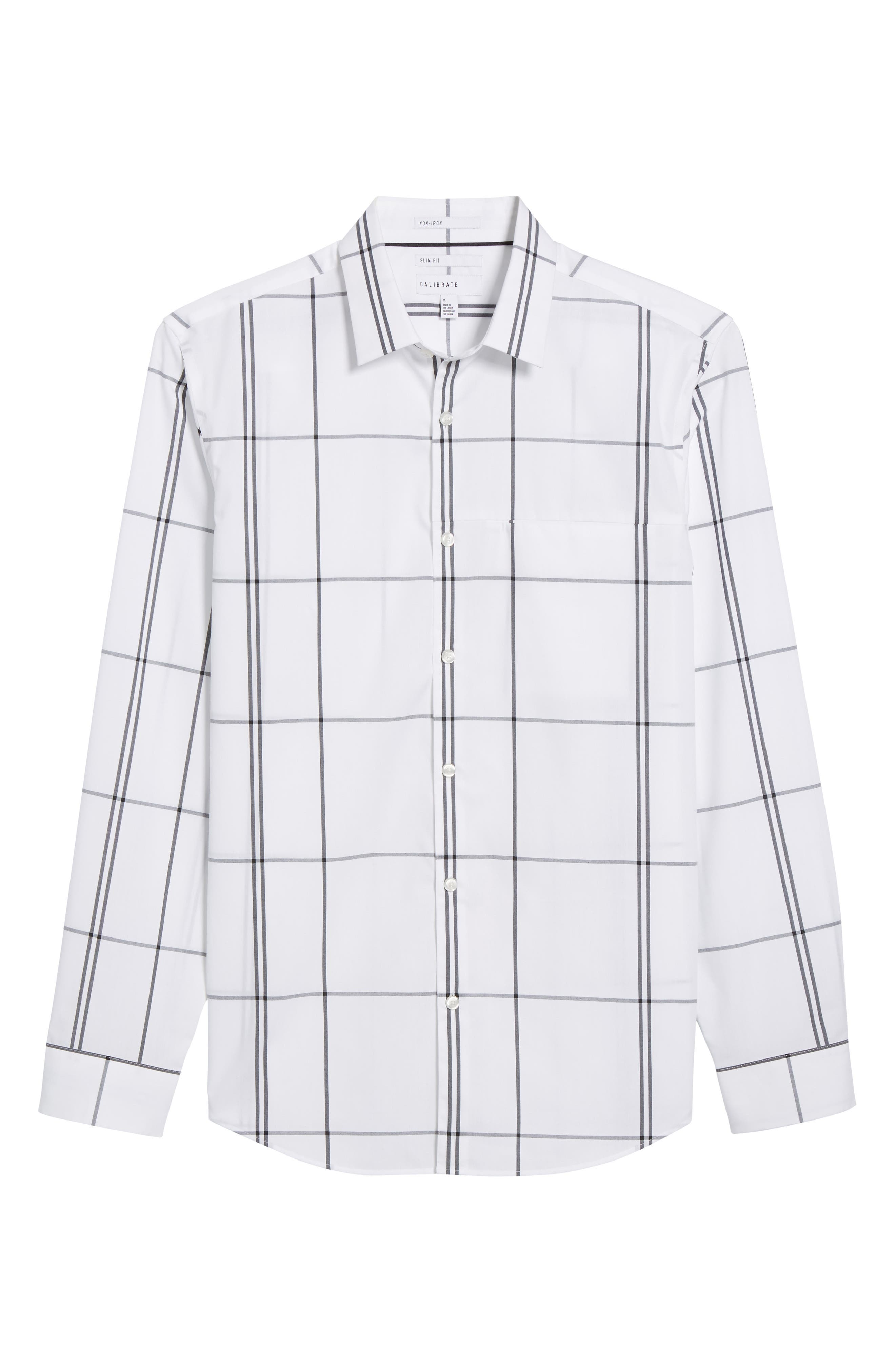 Windowpane Sport Shirt,                             Alternate thumbnail 6, color,                             White Exploded Plaid