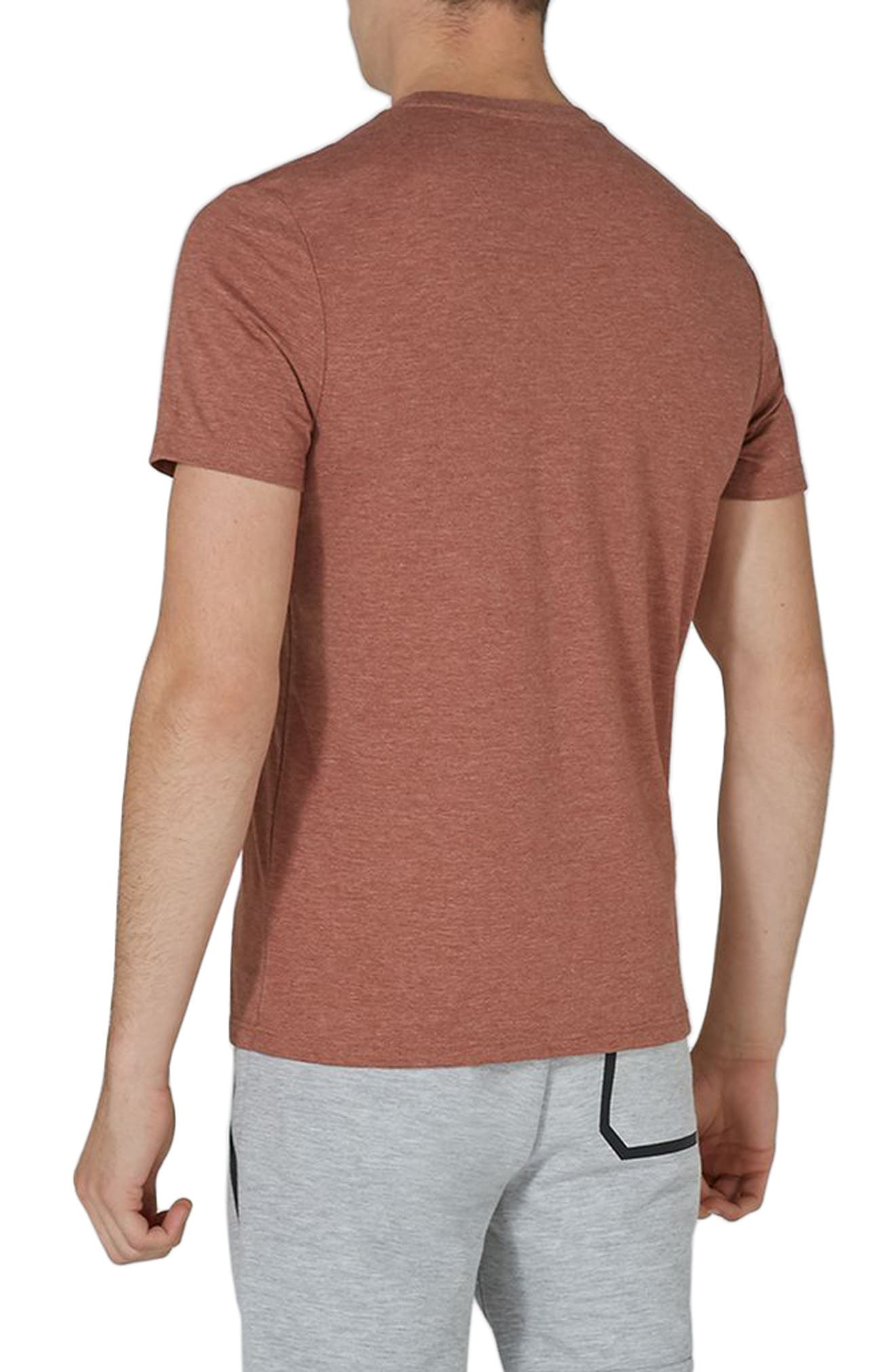 Slim Fit Crewneck T-Shirt,                             Alternate thumbnail 3, color,                             Rust Orange