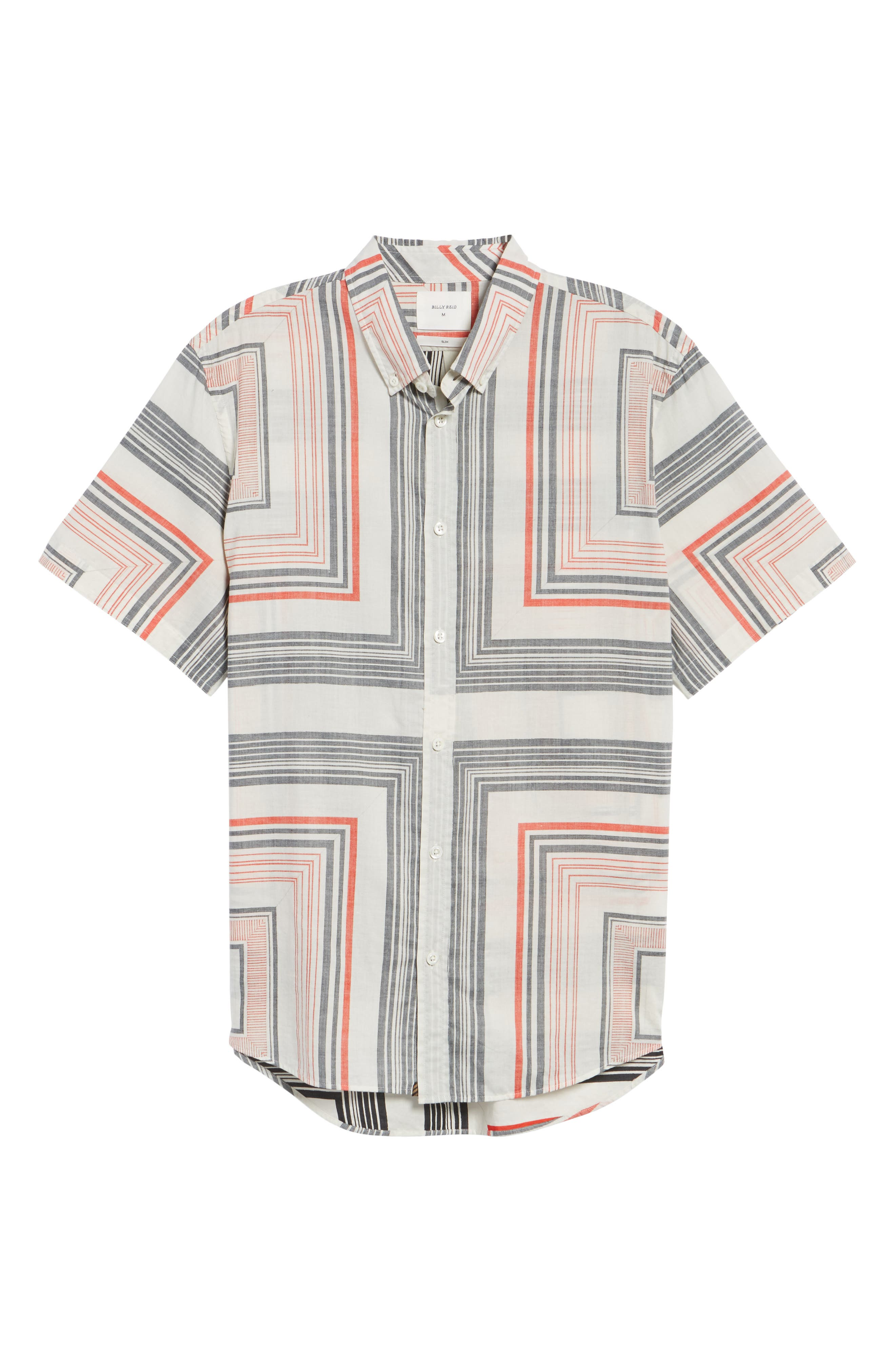 Alternate Image 6  - Billy Reid Murphy Stripe Print Sport Shirt