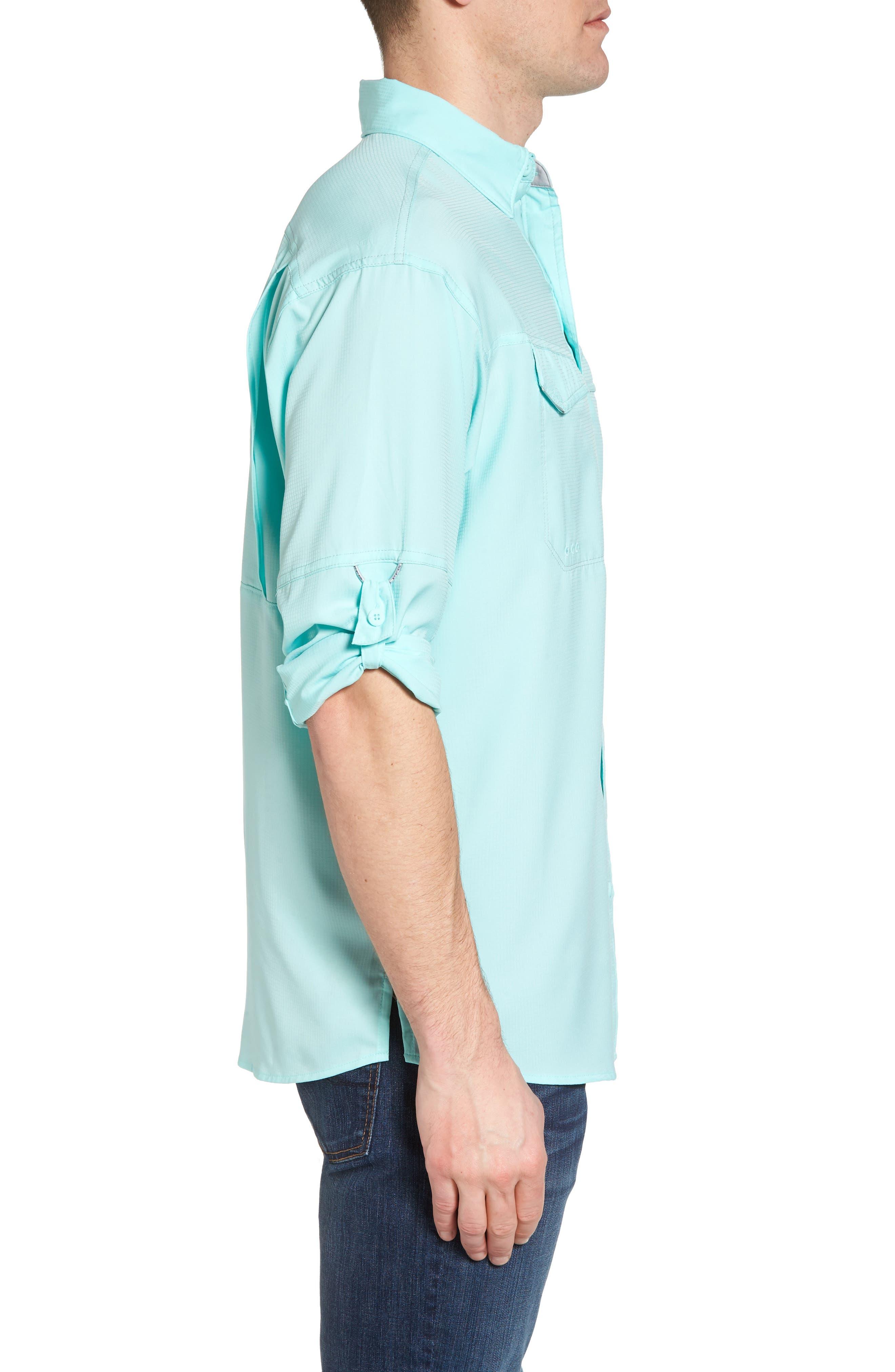 Low Drag Offshore Woven Shirt,                             Alternate thumbnail 3, color,                             Vivid Blue
