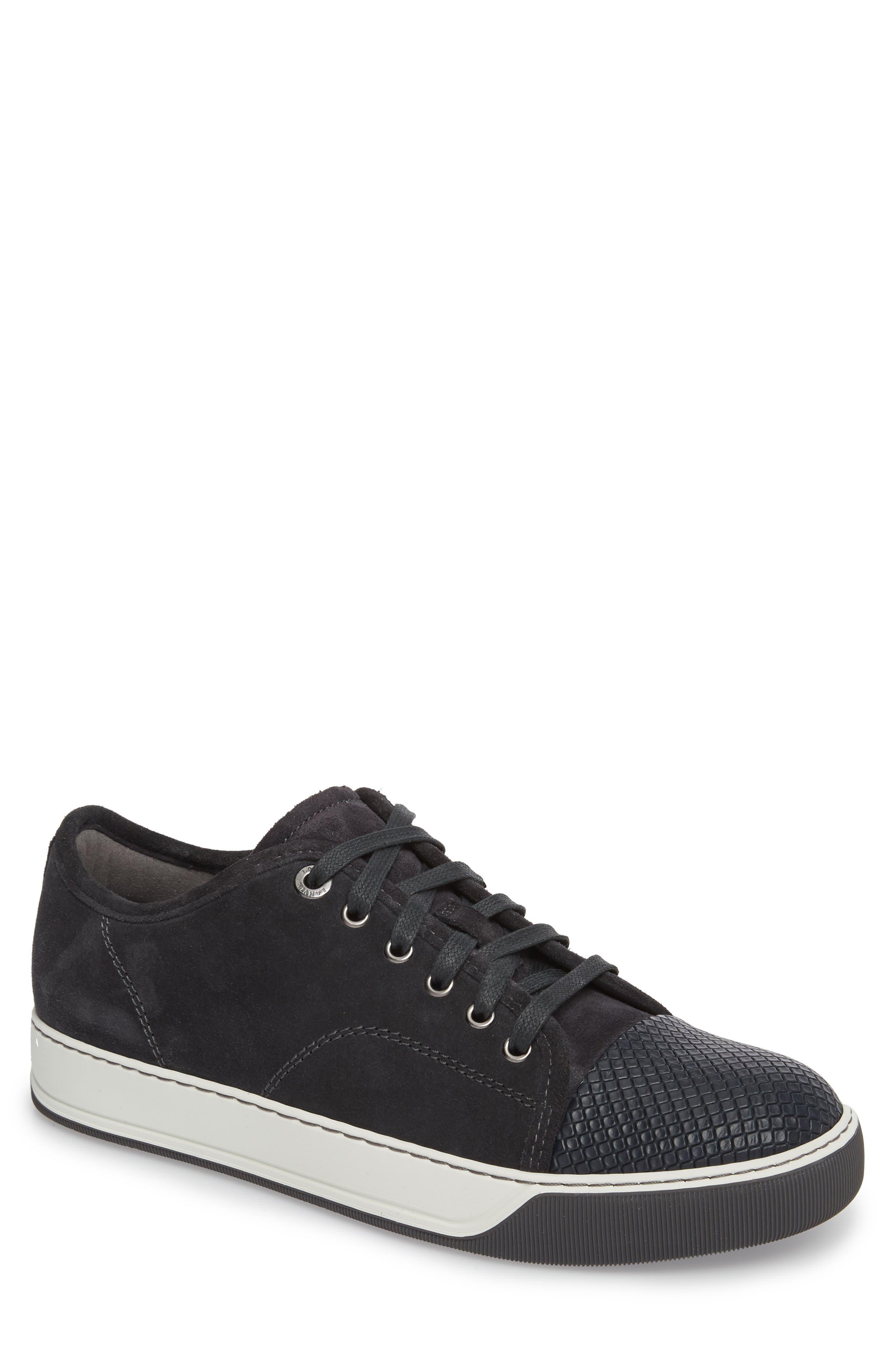 Lanvin Classic Textured Cap Toe Sneaker (Men)