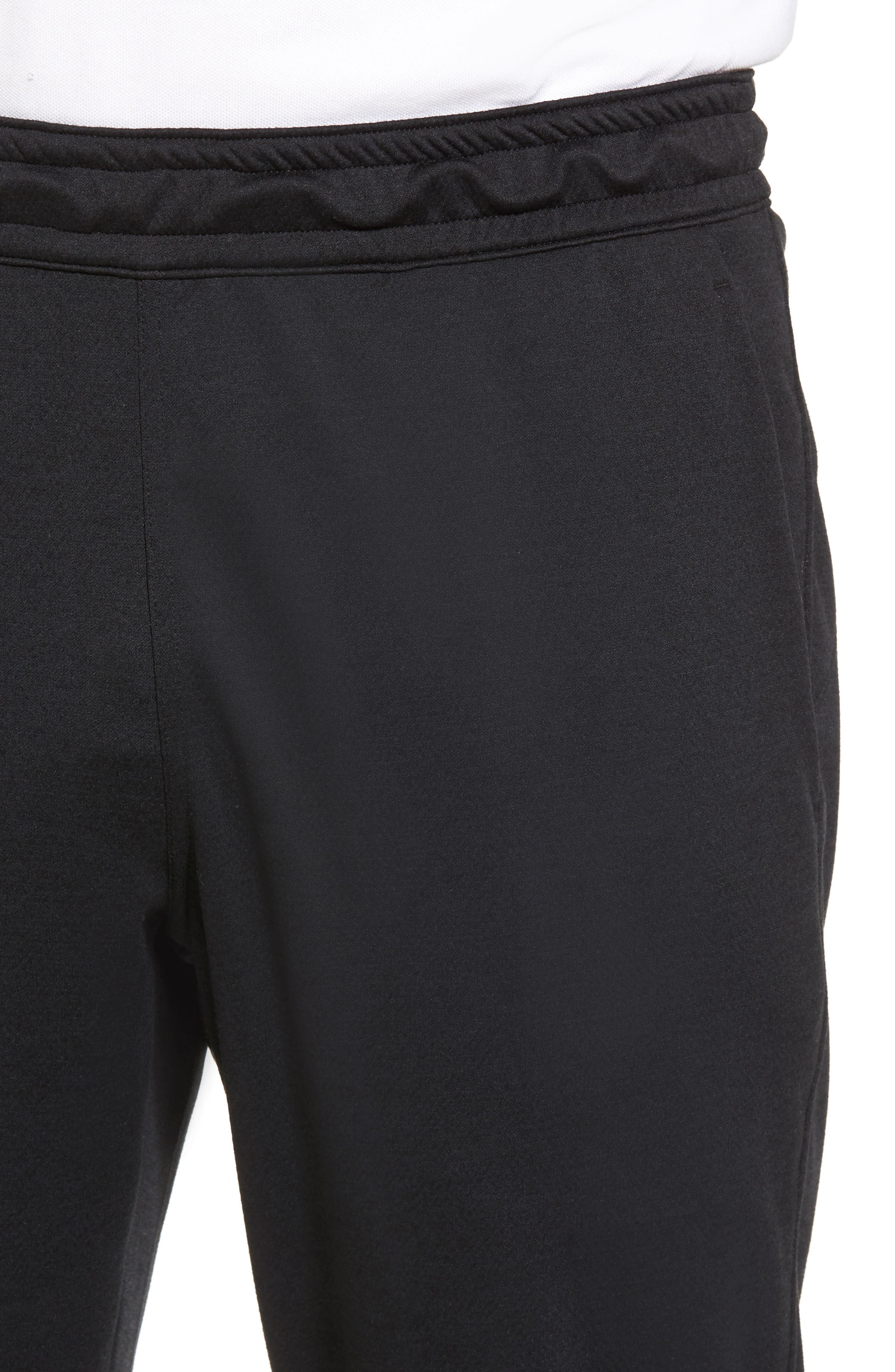Cropped Jogger Pants,                             Alternate thumbnail 4, color,                             Black