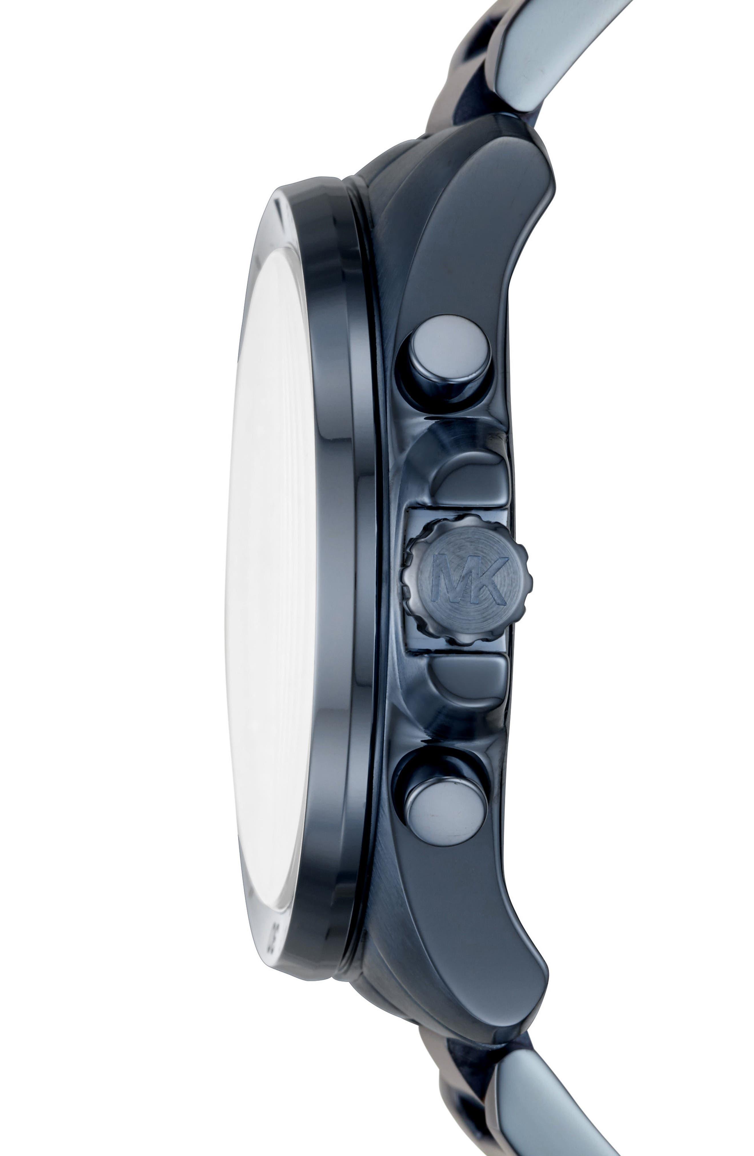 Brecken Chronograph Bracelet Watch, 44mm,                             Alternate thumbnail 2, color,                             Blue