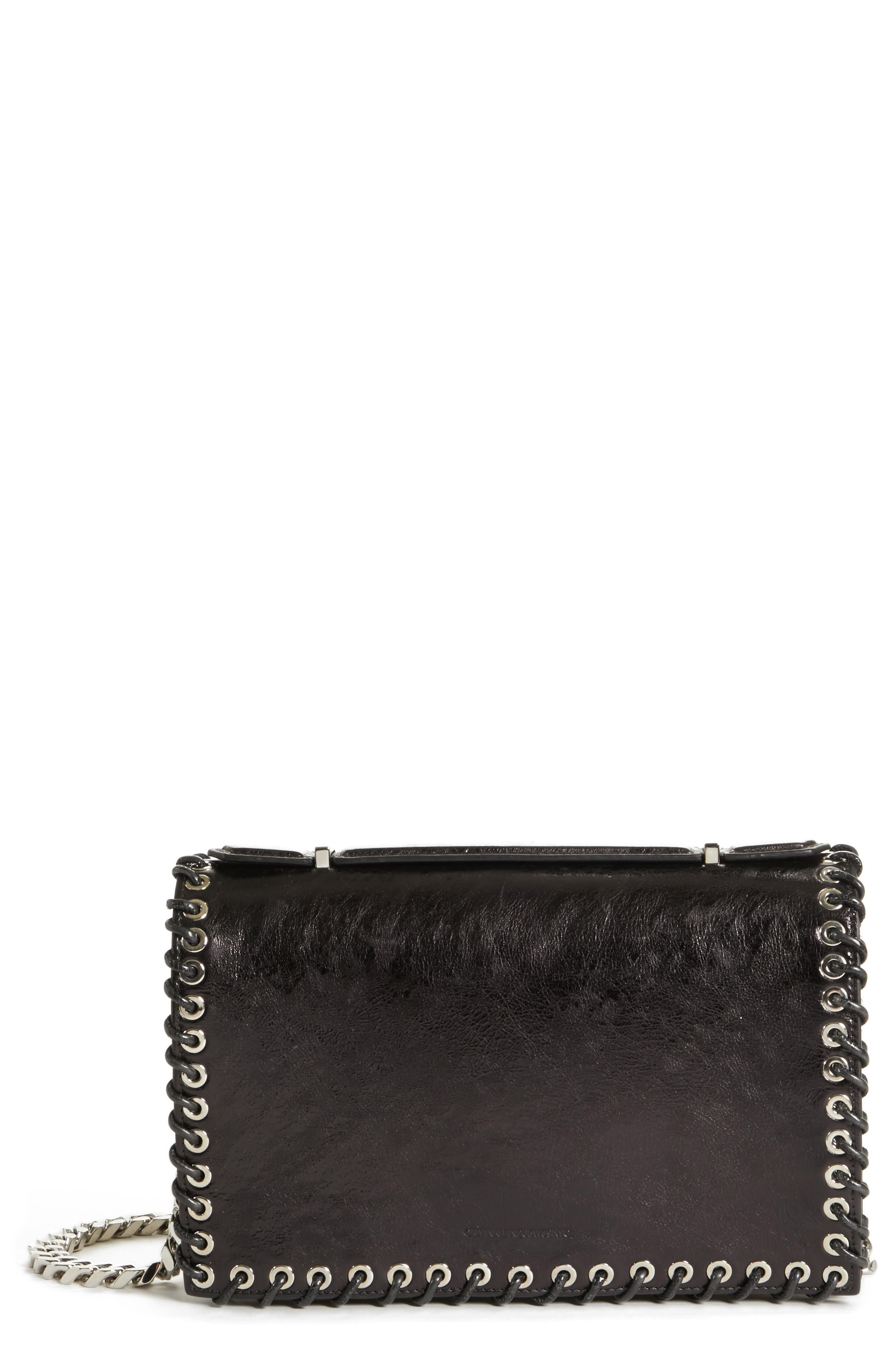 Alternate Image 1 Selected - CALVIN KLEIN 205W39NYC Whipstitch Leather Shoulder Bag