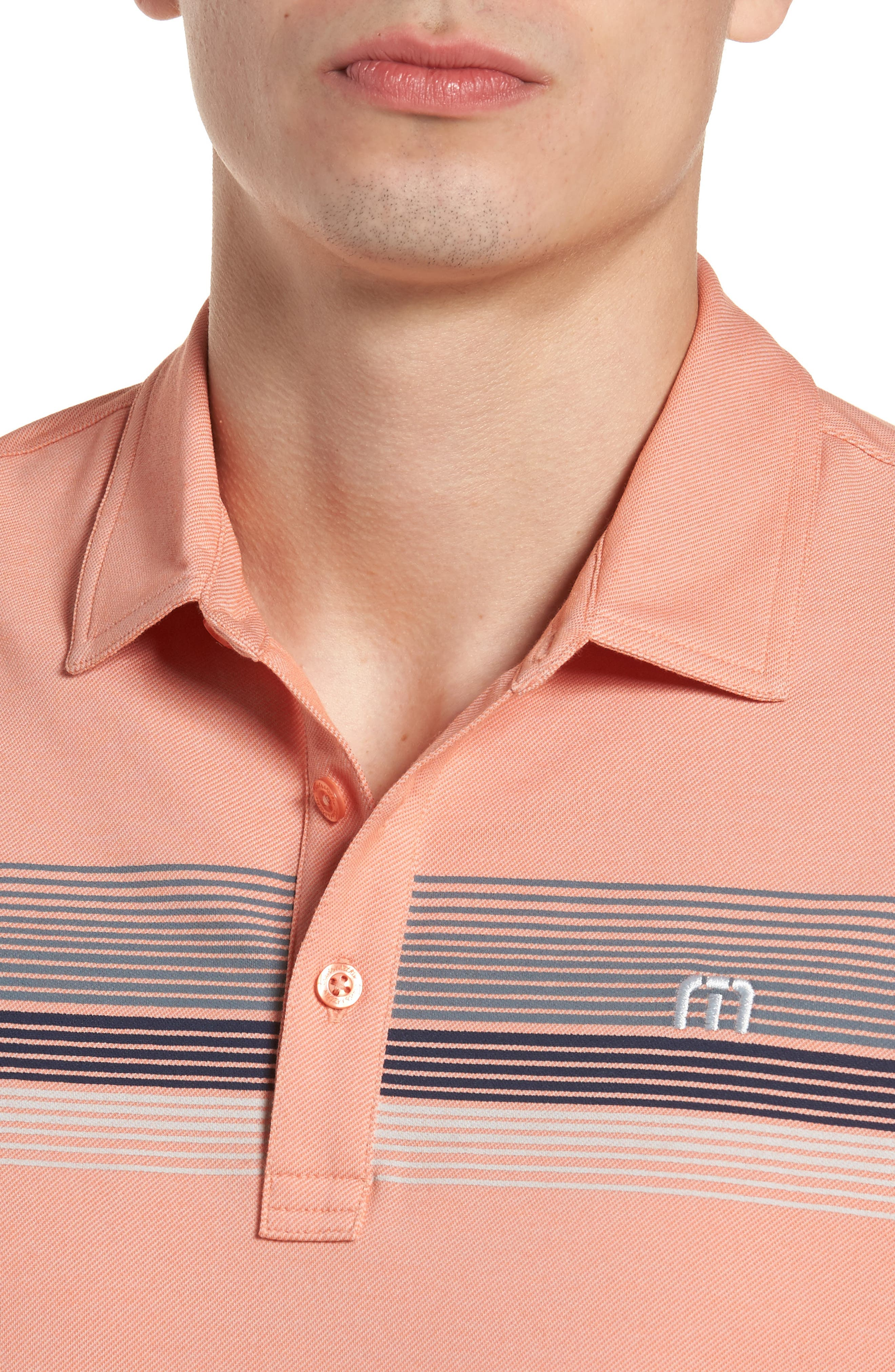 Happy Jelly Regular Fit Polo,                             Alternate thumbnail 4, color,                             Flamingo/ Micro Chip