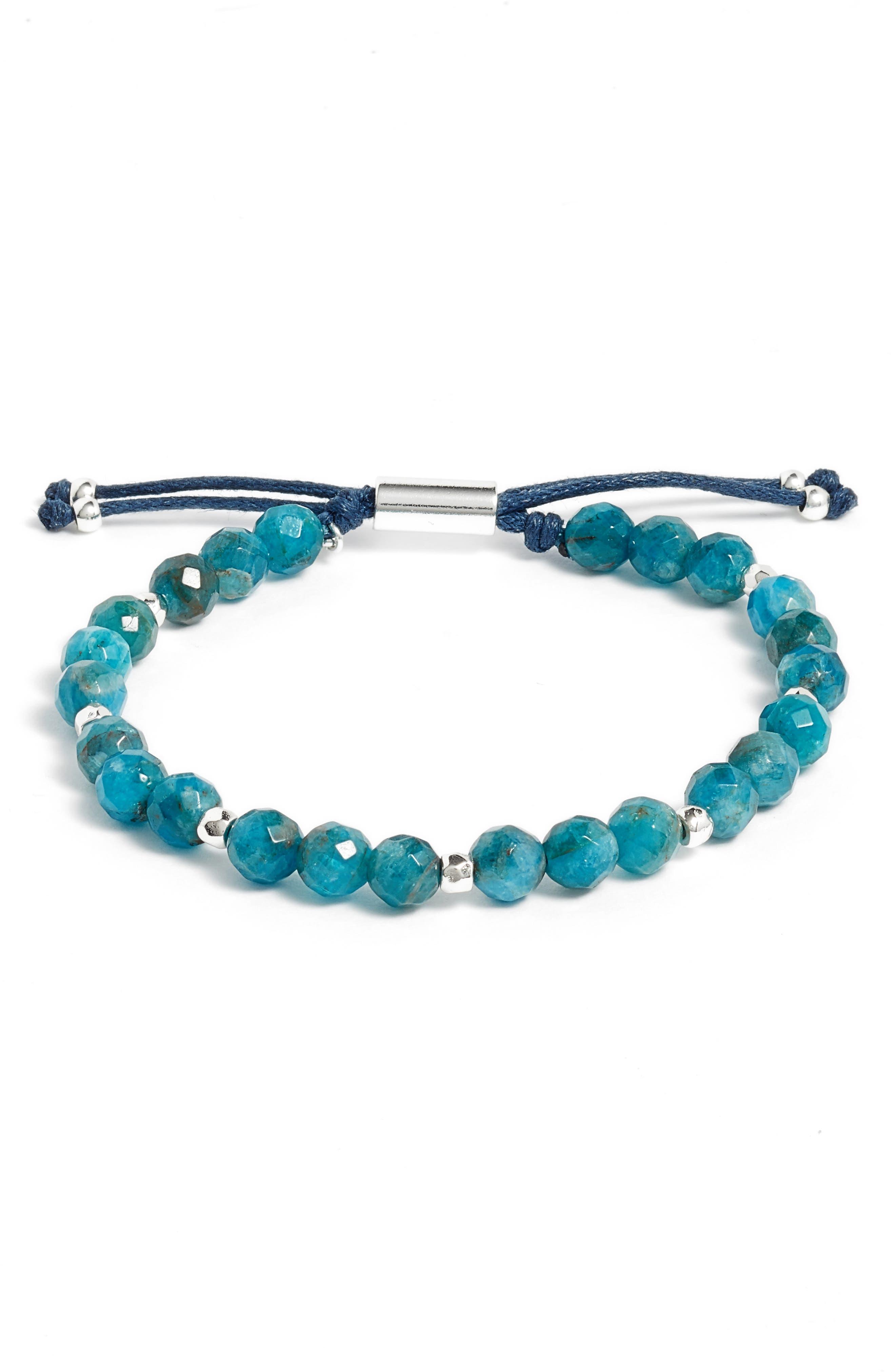 Inspiration Gemstone Bracelet,                         Main,                         color, Apatite/ Silver