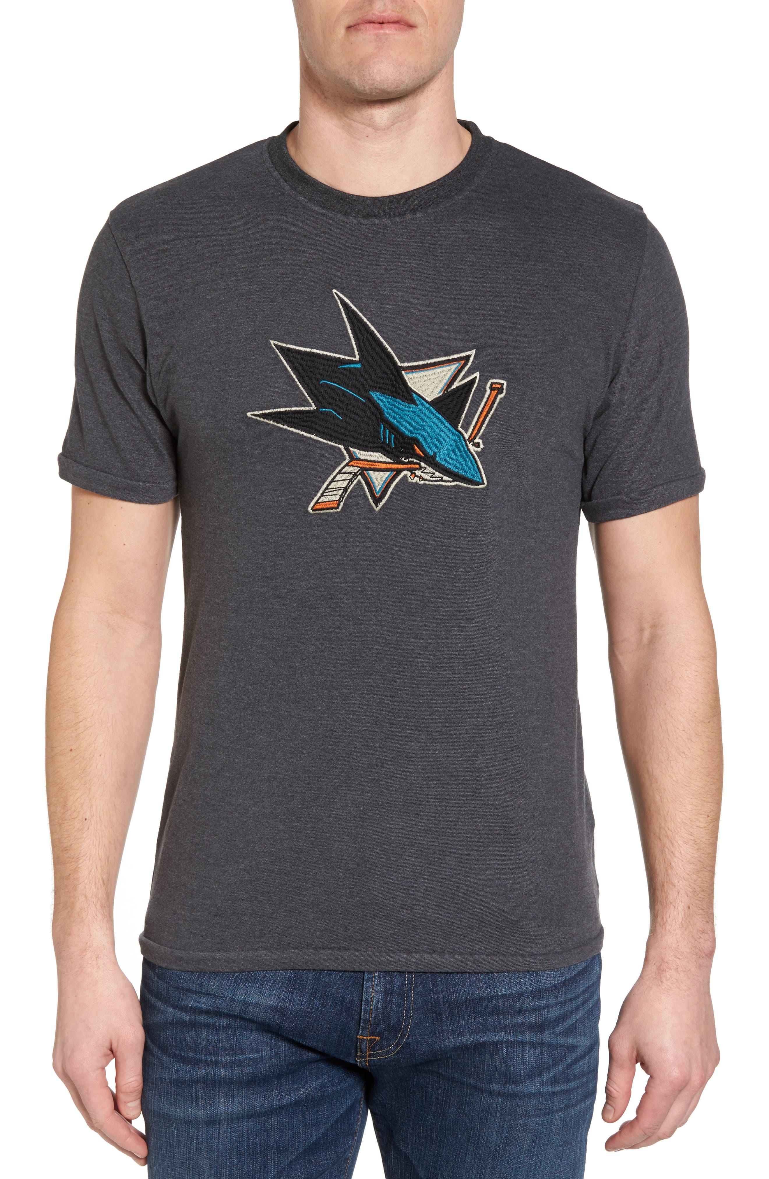 Hillwood San José Sharks Embroidered T-Shirt,                             Main thumbnail 1, color,                             Heather Black