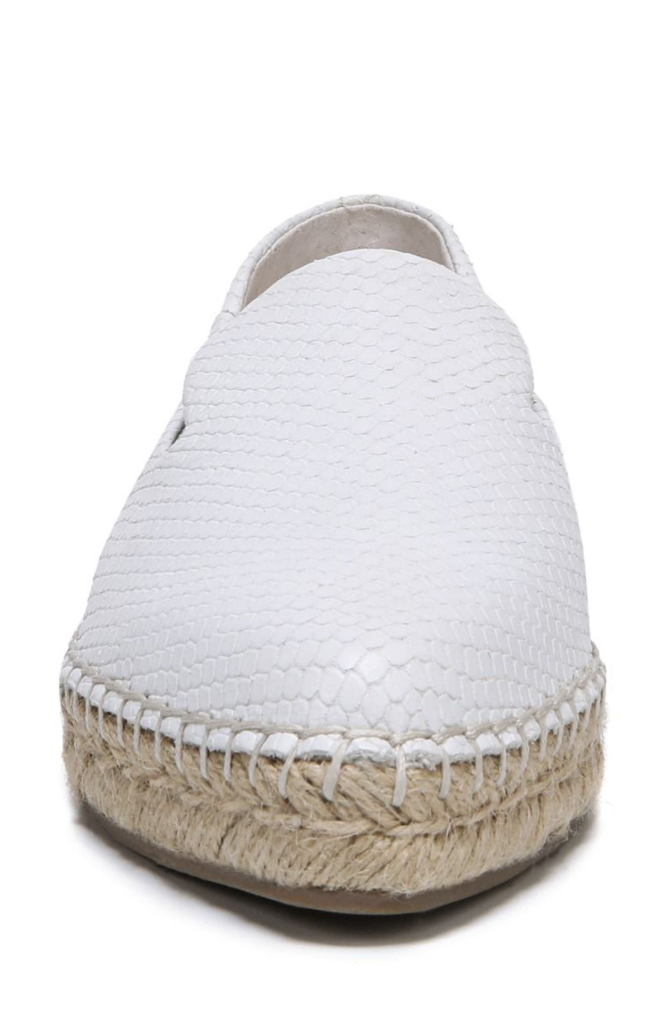 Eviana Espadrille Loafer,                             Alternate thumbnail 4, color,                             Blanca Snake Print Leather