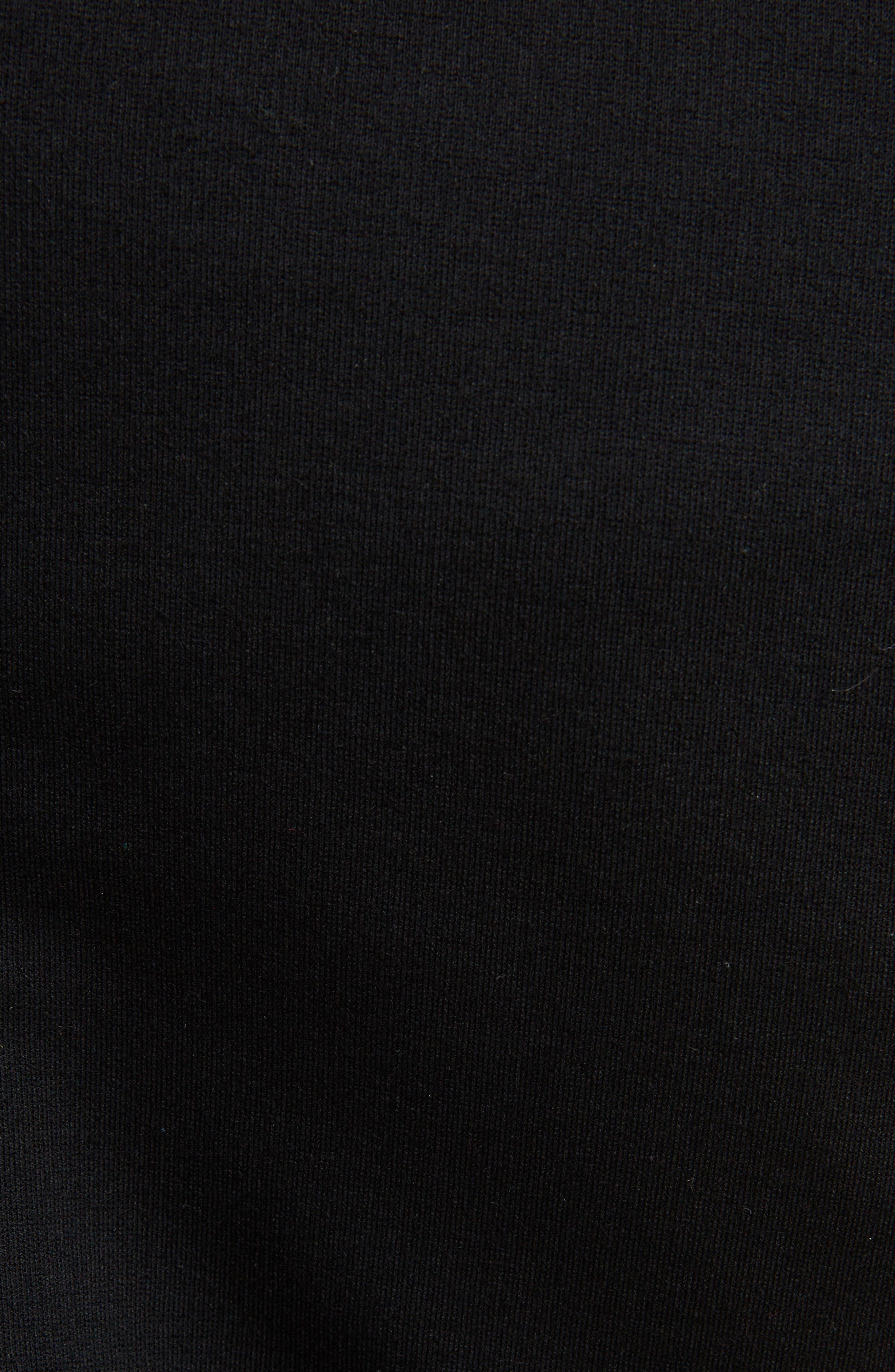 Matte Jersey Off the Shoulder Dress,                             Alternate thumbnail 5, color,                             Black