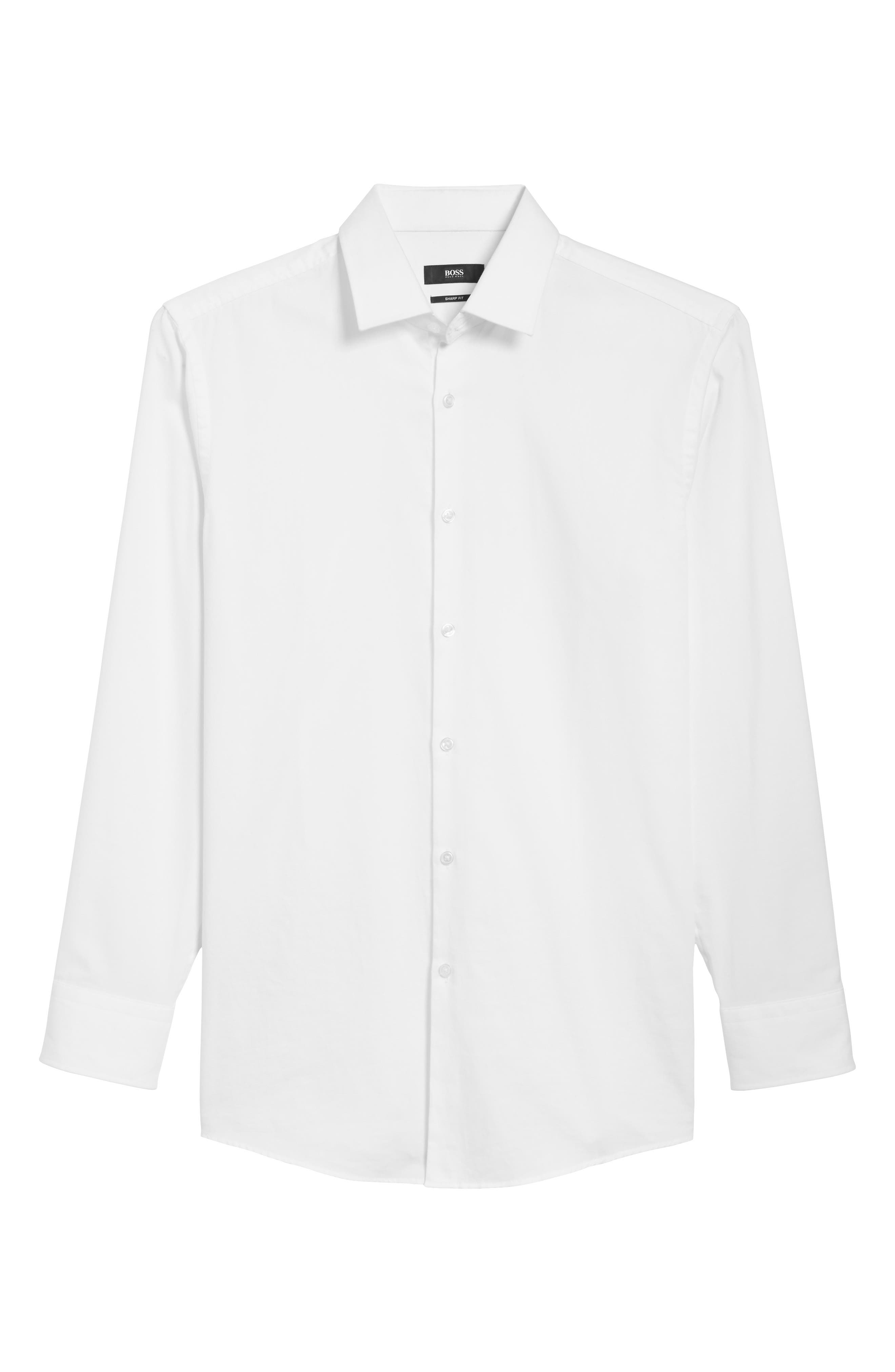 Main Image - BOSS Rod Trim Fit Check Oxford Sport Shirt