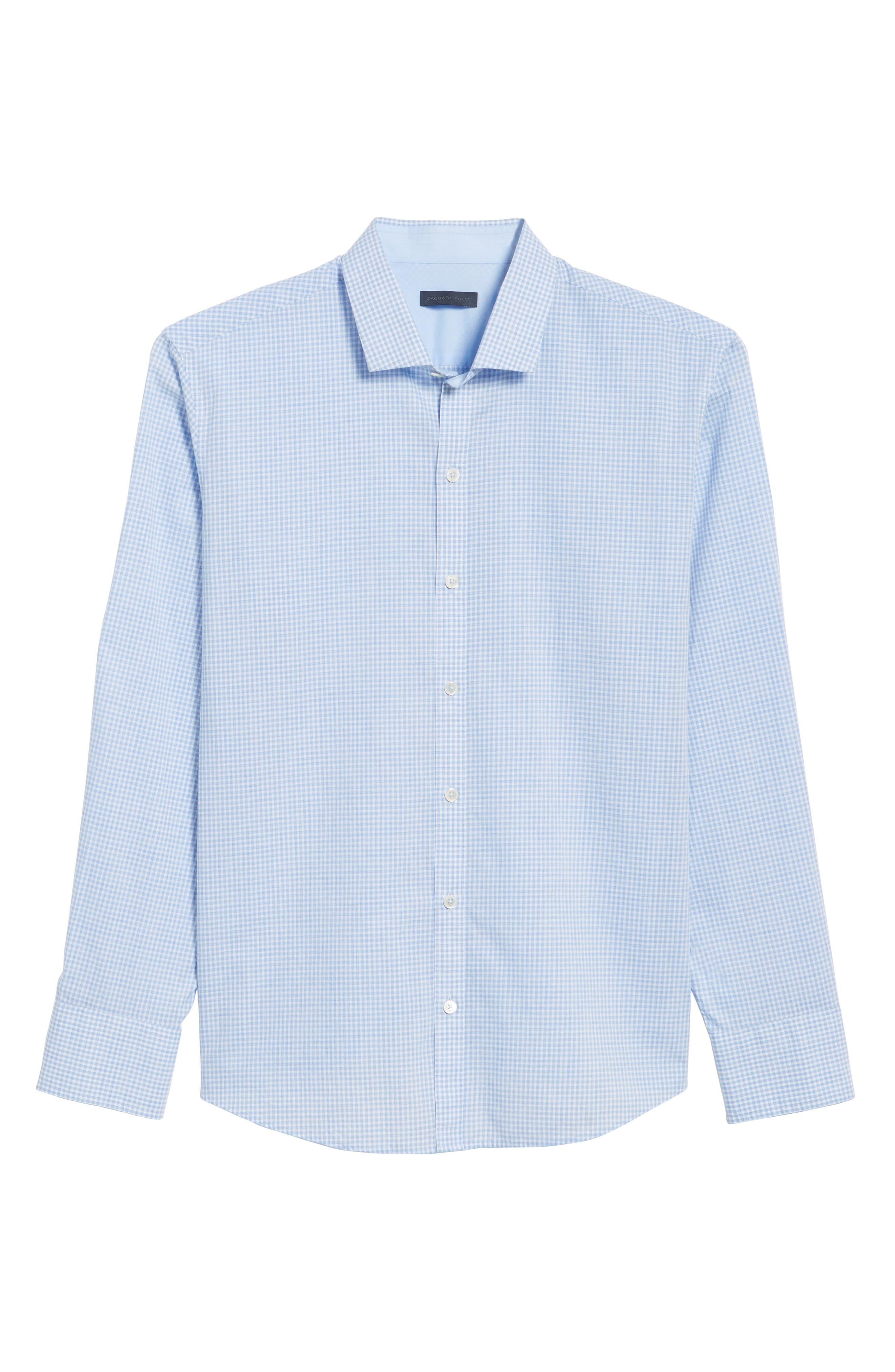 McGarry Gingham Sport Shirt,                             Alternate thumbnail 6, color,                             Light Blue