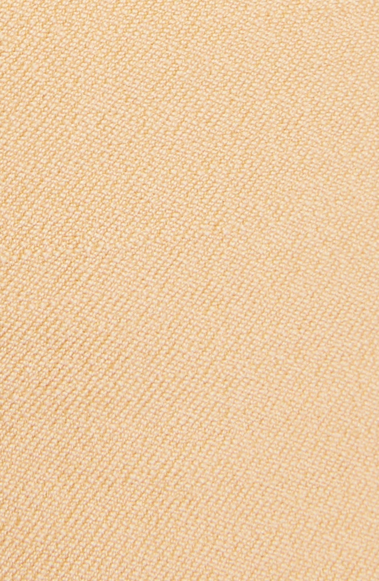 Side Pleat Wool & Silk Blend Shorts,                             Alternate thumbnail 6, color,                             Quiet Brown
