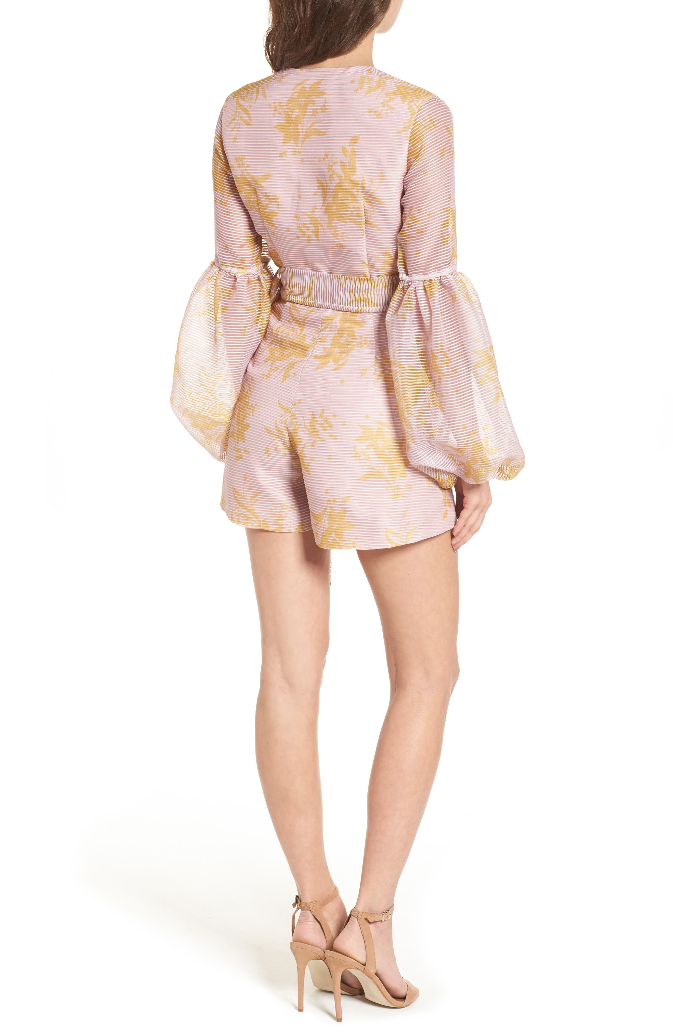 Stand Tall Romper,                             Alternate thumbnail 2, color,                             Blush Stencil Floral