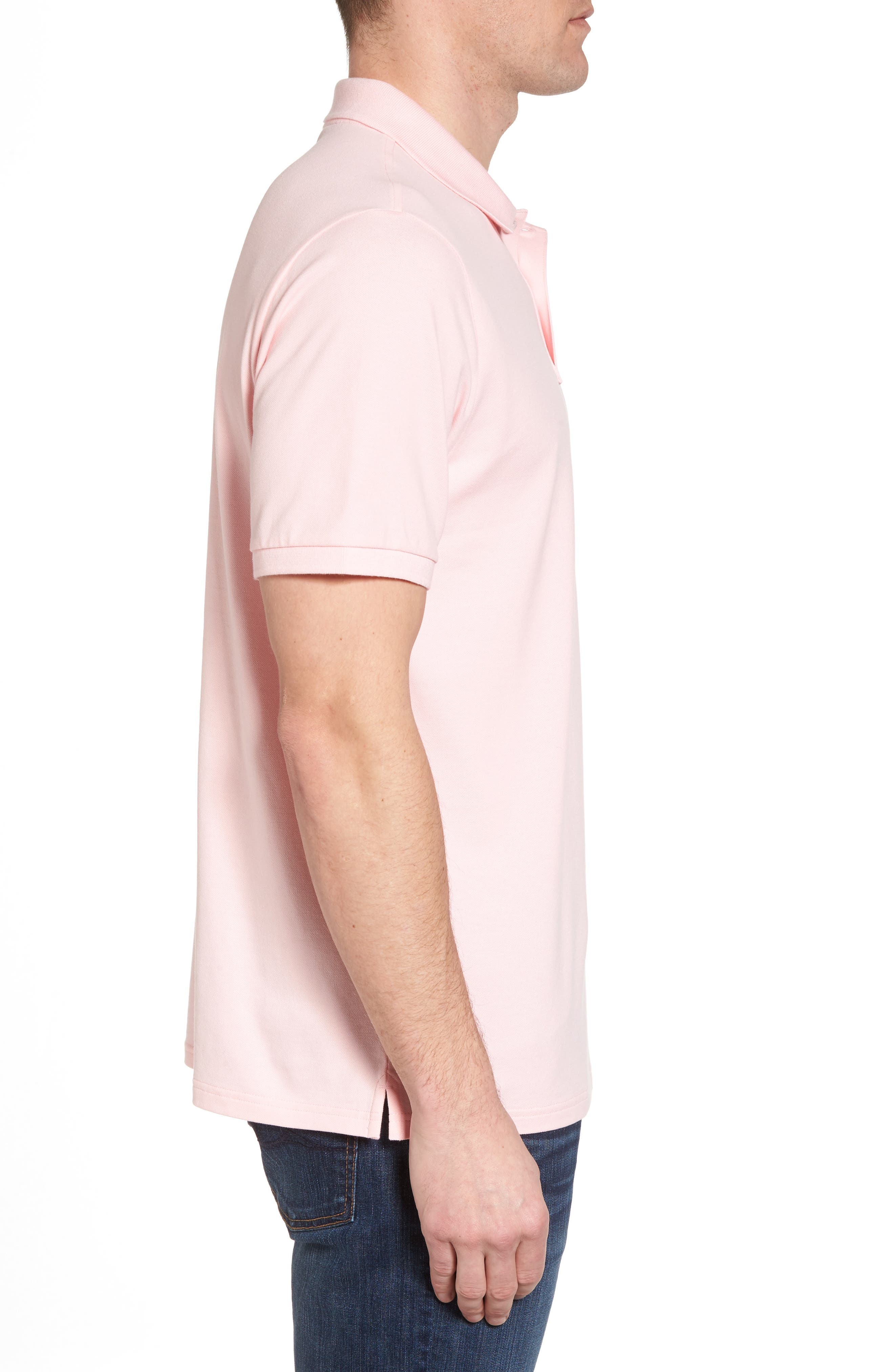 Regular Fit Piqué Polo,                             Alternate thumbnail 3, color,                             Flamingo