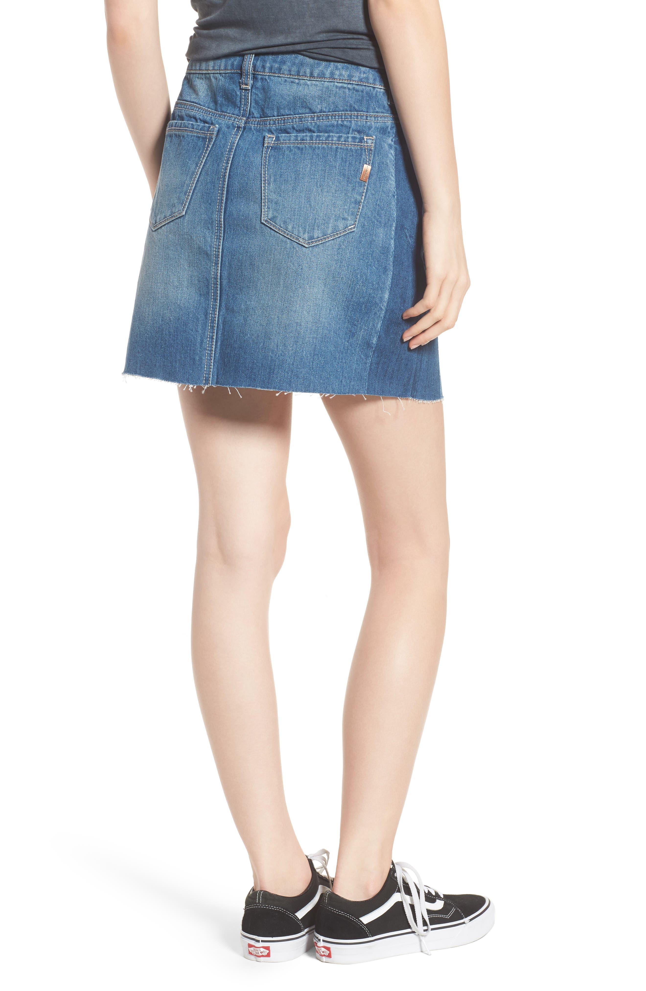 Two Tone Denim Skirt,                             Alternate thumbnail 2, color,                             Lexington