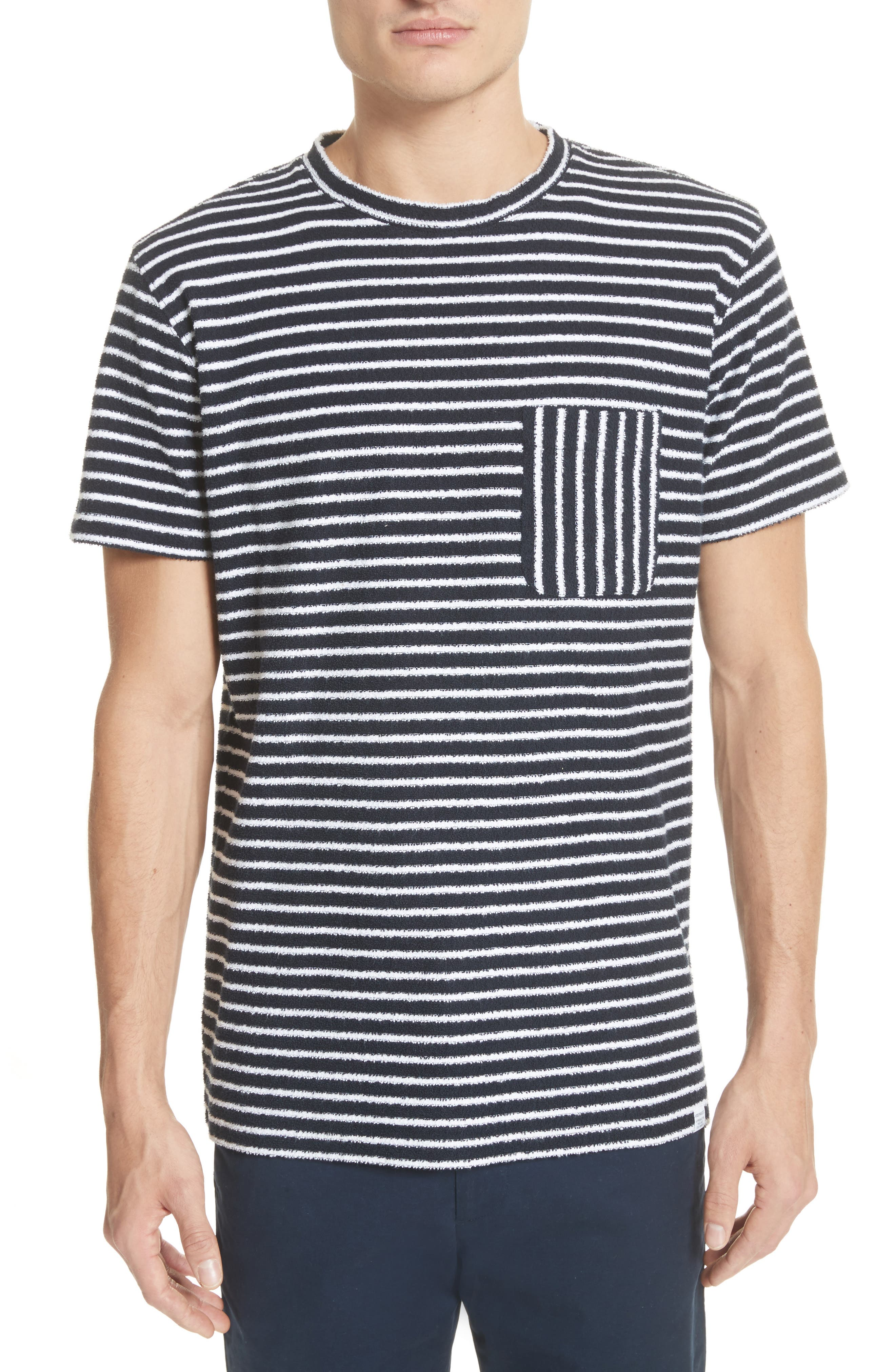 Norse Projects Niels Stripe Pocket T-Shirt