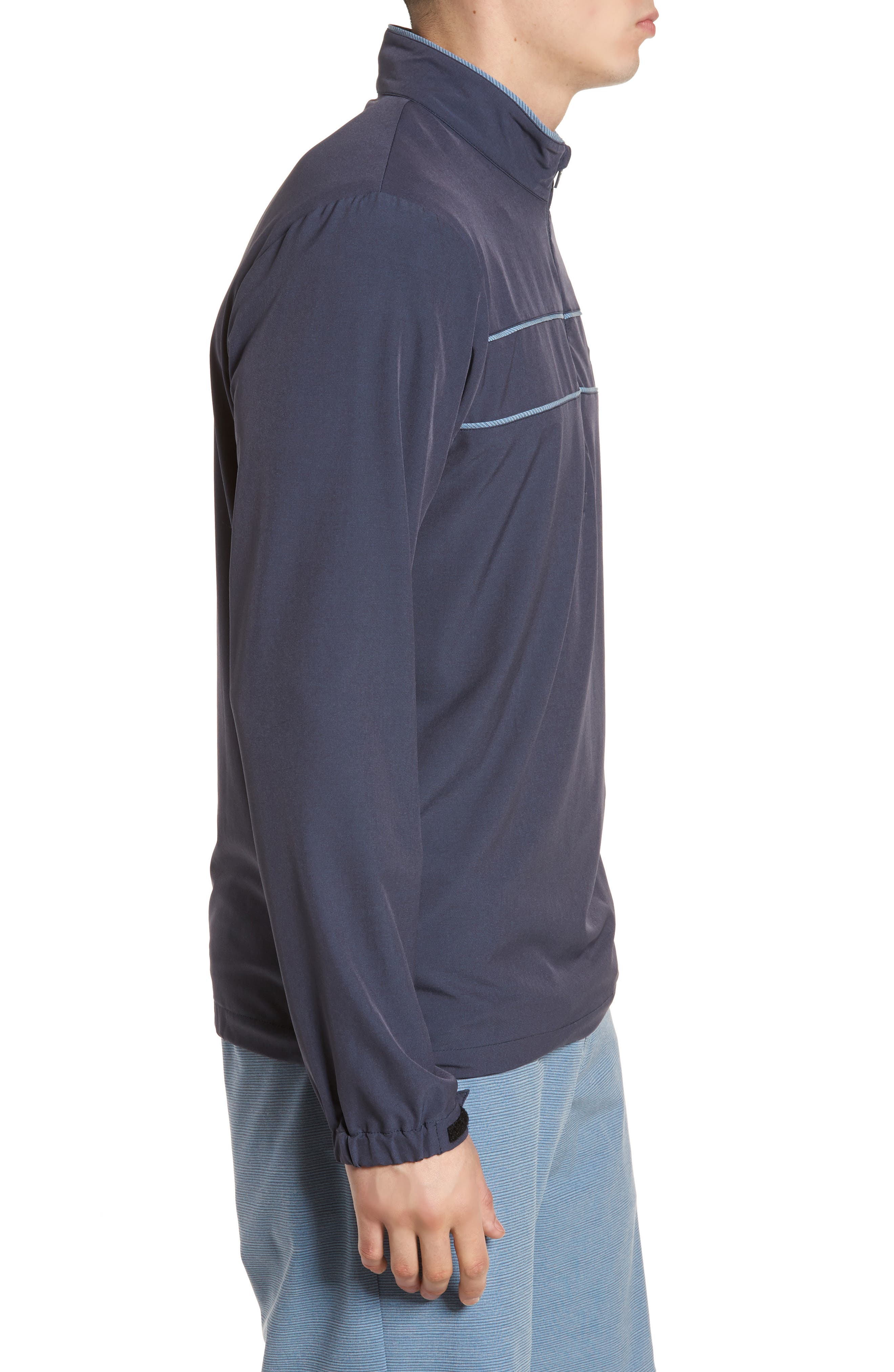 Leon Half Zip Pullover,                             Alternate thumbnail 3, color,                             Blue Nights/ French Blue